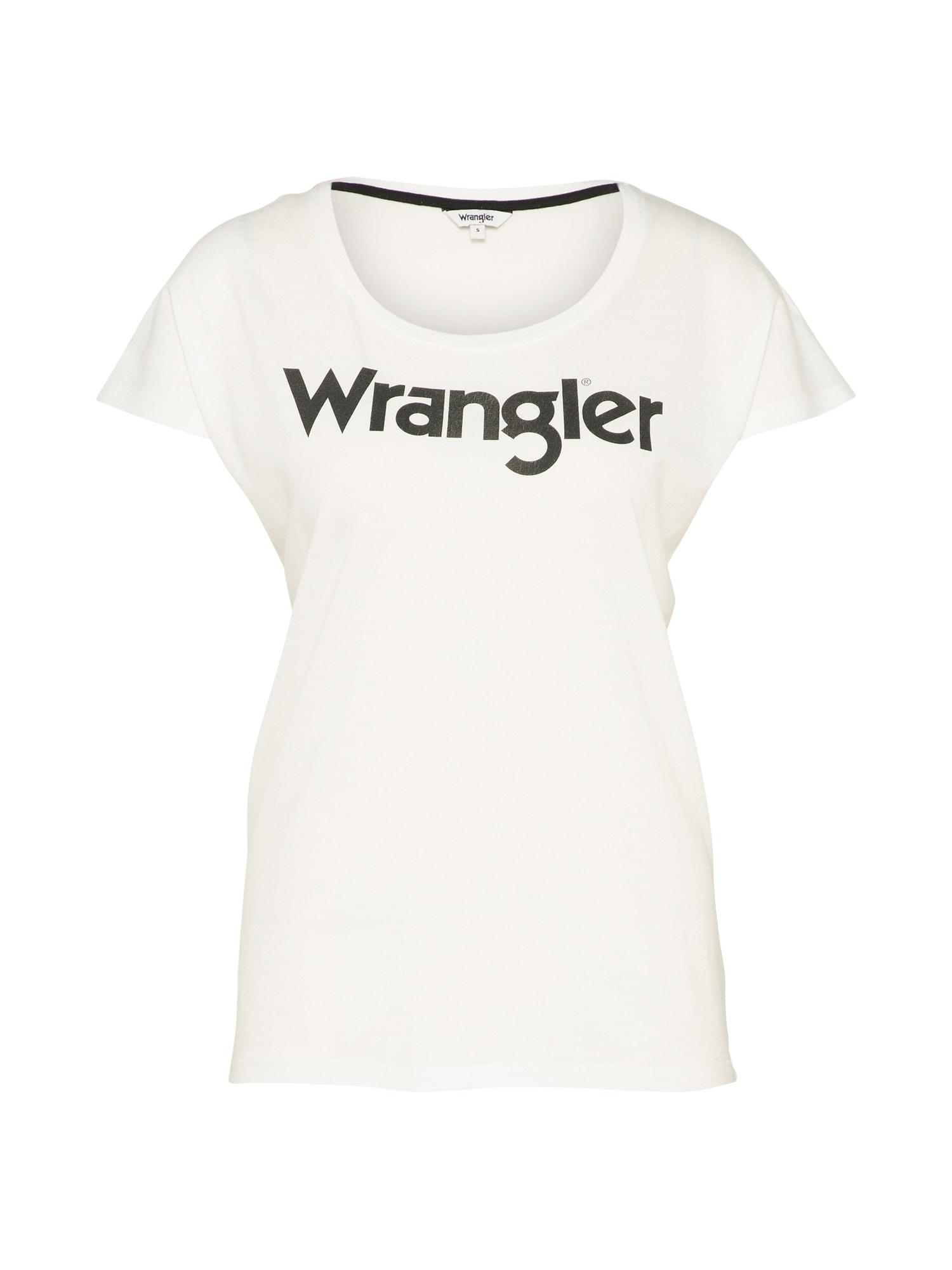 WRANGLER Dames Shirt LOGO zwart wit