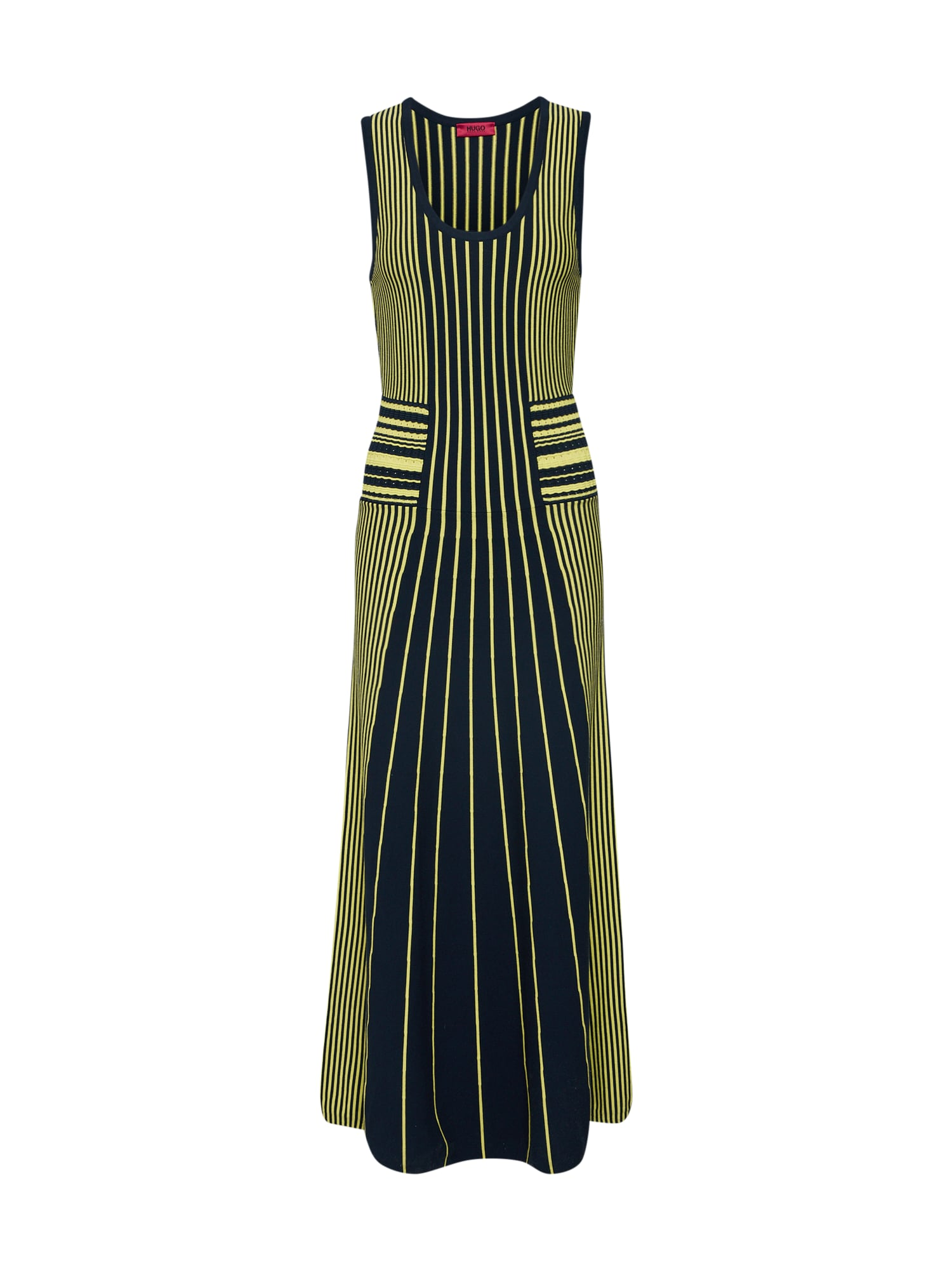 Šaty Silbiana modrá žlutá HUGO