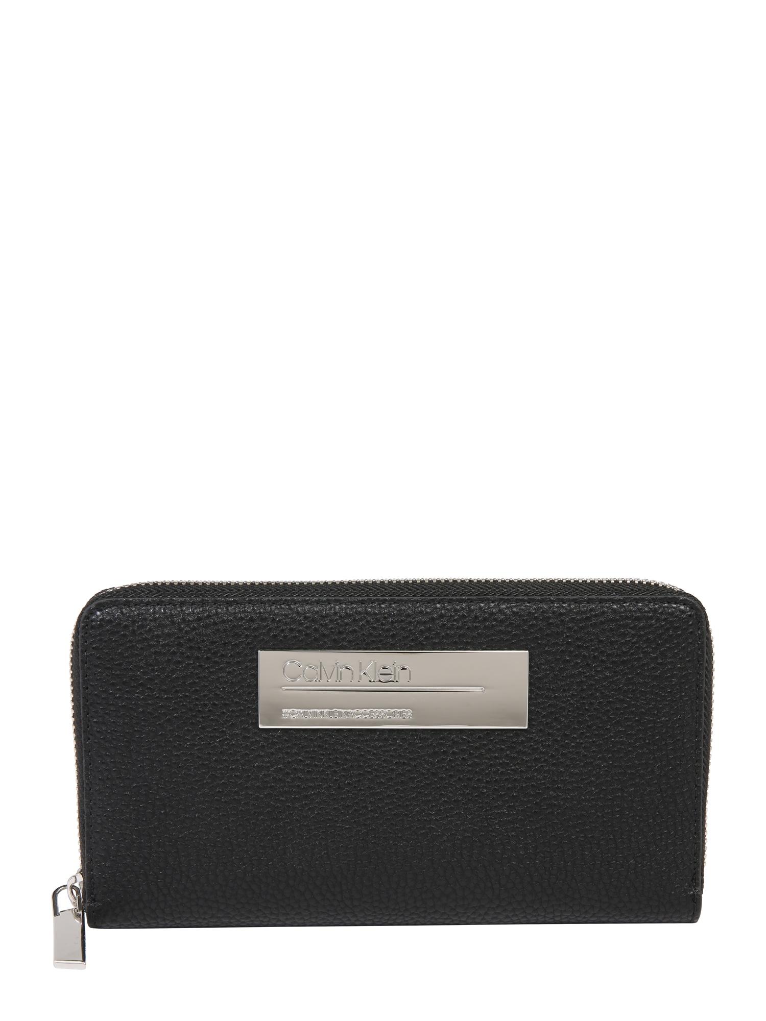 Peněženka SIDED LARGE ZIPAROUND XL černá Calvin Klein