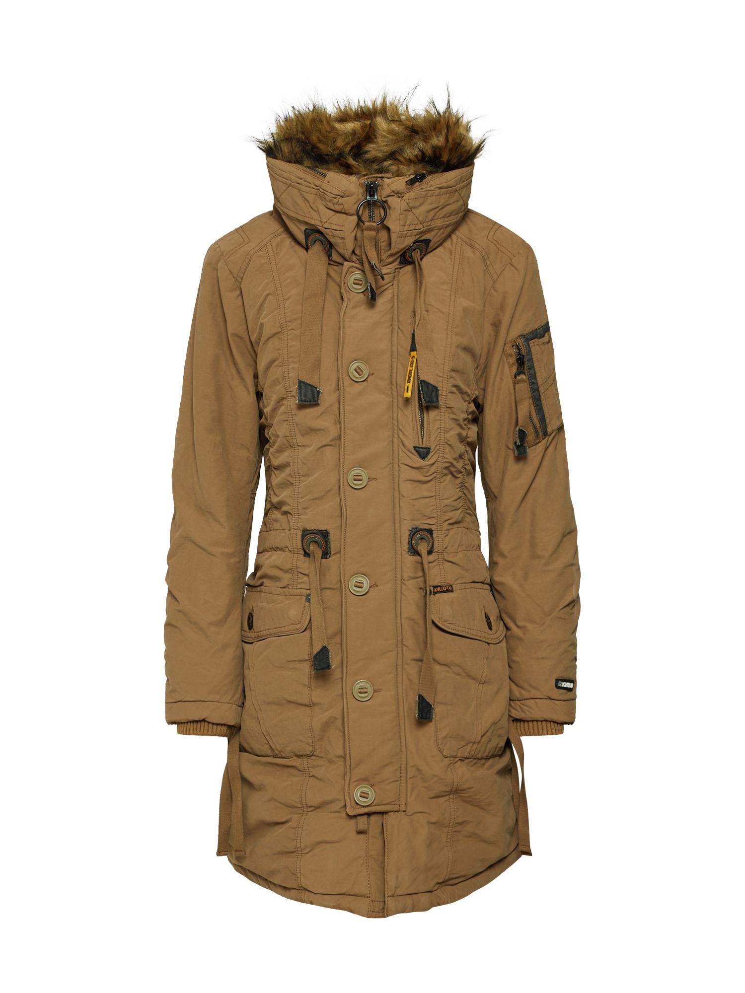 Zimní kabát STEFANIA medová Khujo