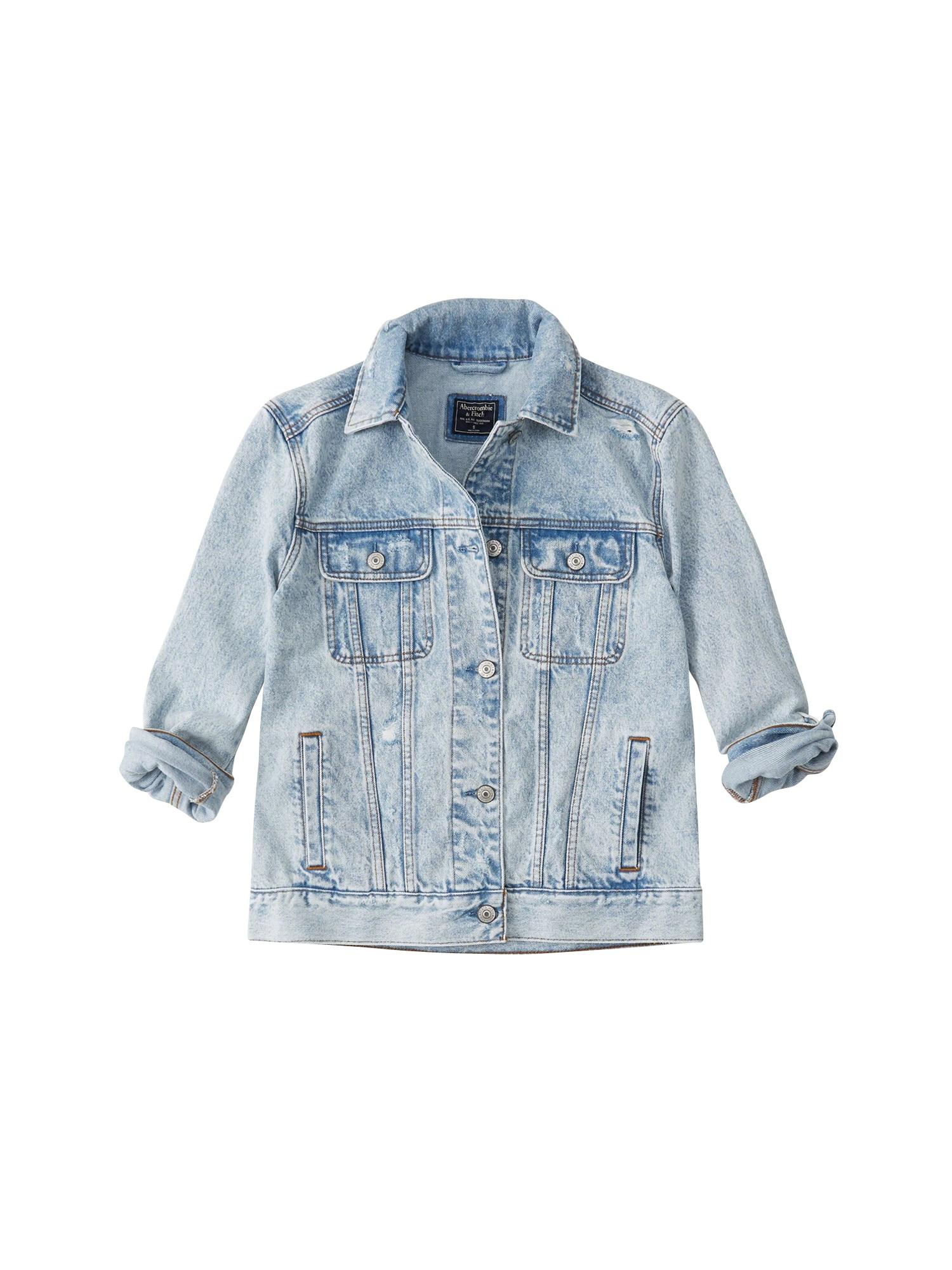 Přechodná bunda modrá džínovina Abercrombie & Fitch