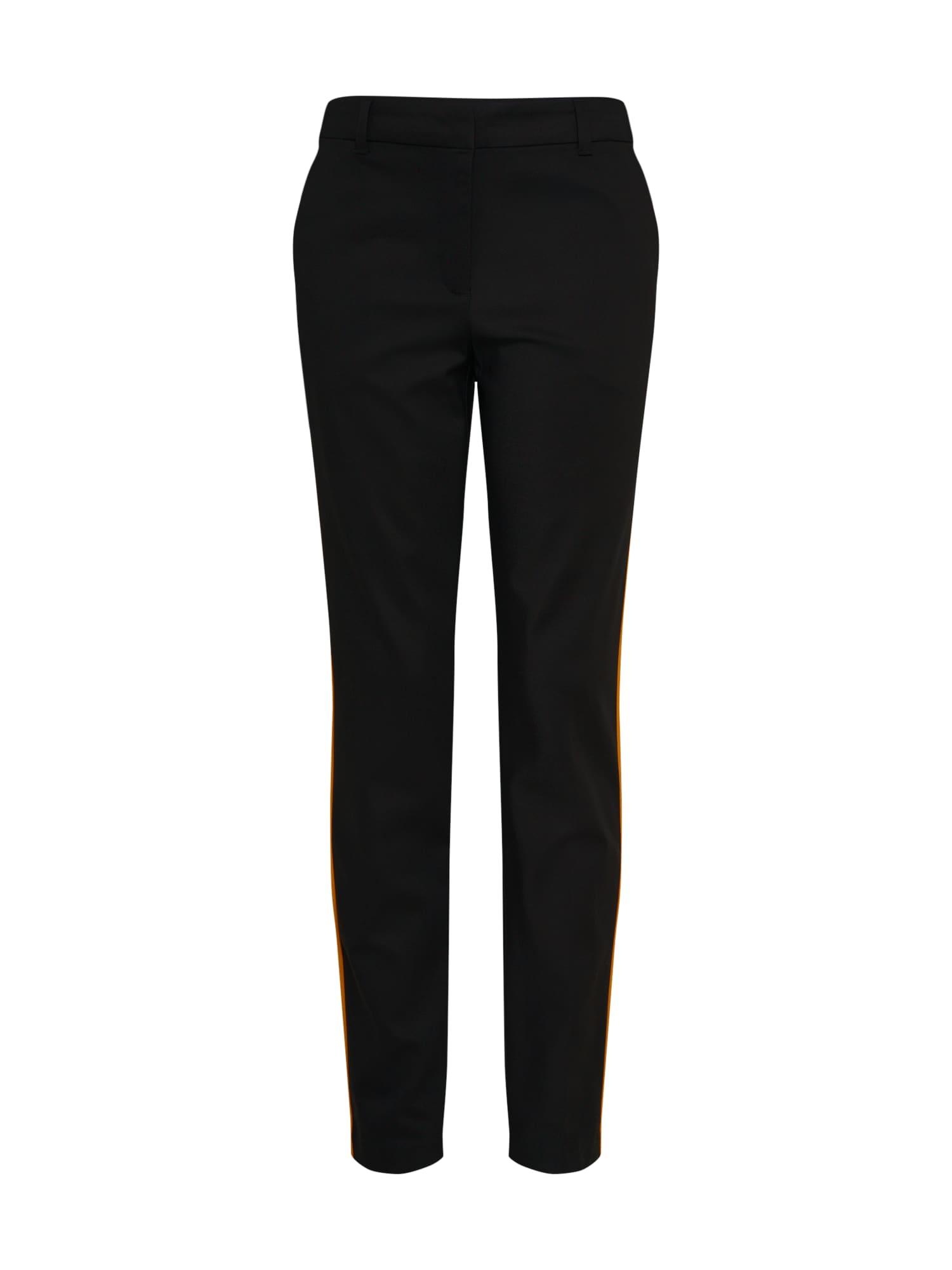 Kalhoty ASTON oranžová černá VERO MODA