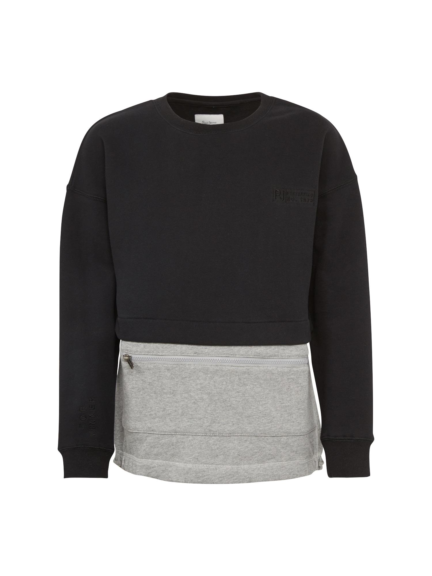 Pepe Jeans Jongens Sweatshirt SAUL TEEN grijs gemêleerd zwart