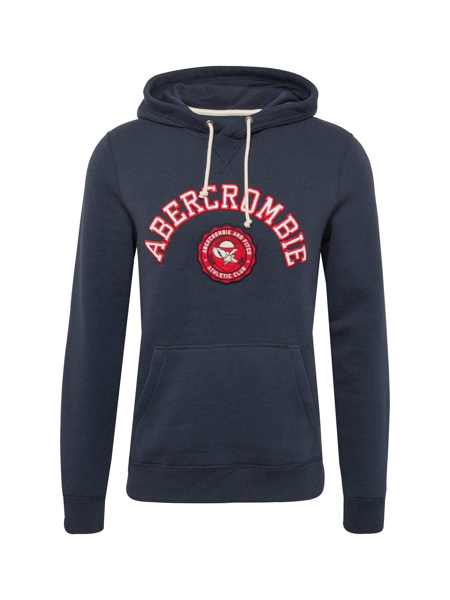 Mikina ATHLETIC CLUB POPOVER námořnická modř červená Abercrombie & Fitch