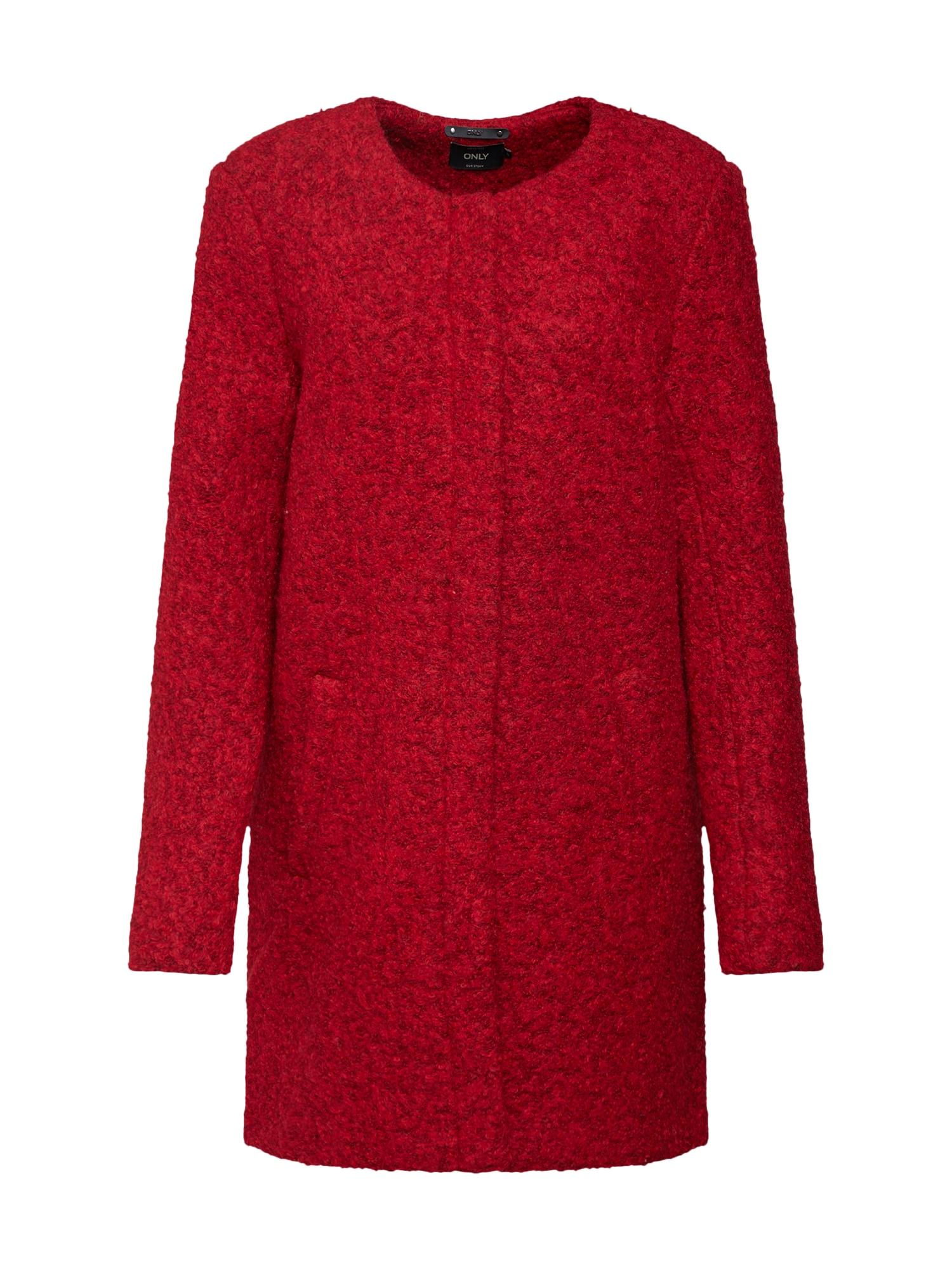 Zimní kabát červená ONLY