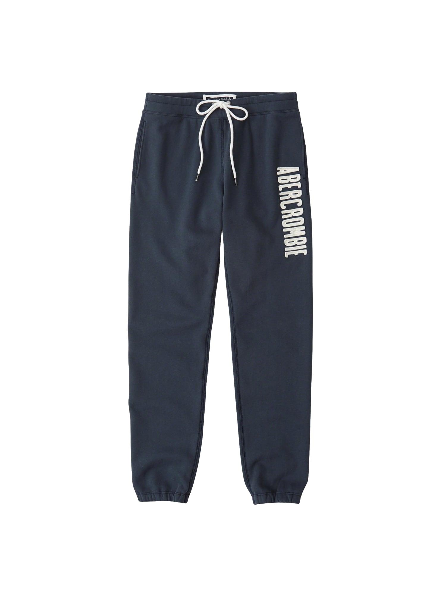 Kalhoty SB18-LONG LIFE LOGO T1T4 FULL YEAR 2CC námořnická modř Abercrombie & Fitch