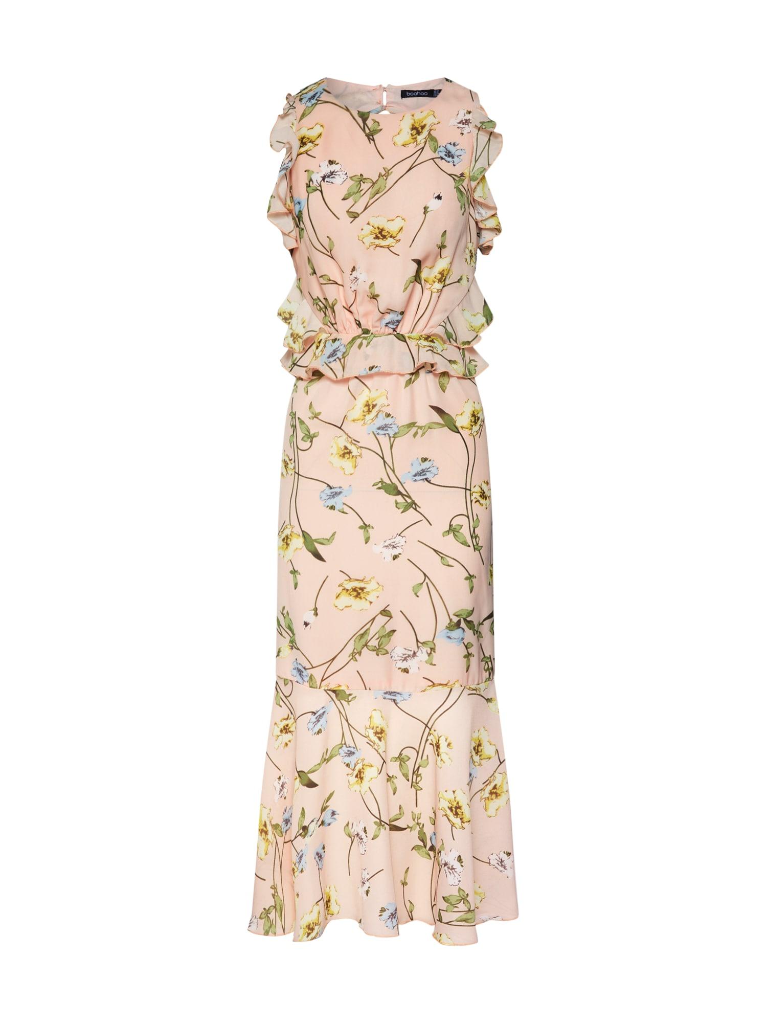 Letní šaty světle šedá růžová Boohoo