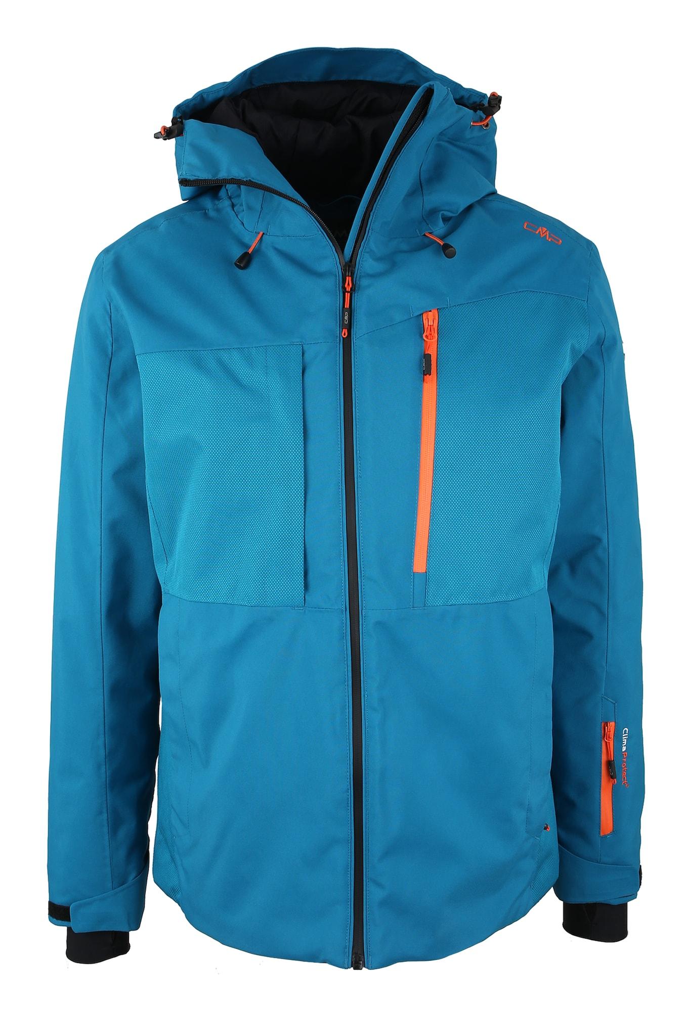 Outdoorová bunda modrá oranžová CMP
