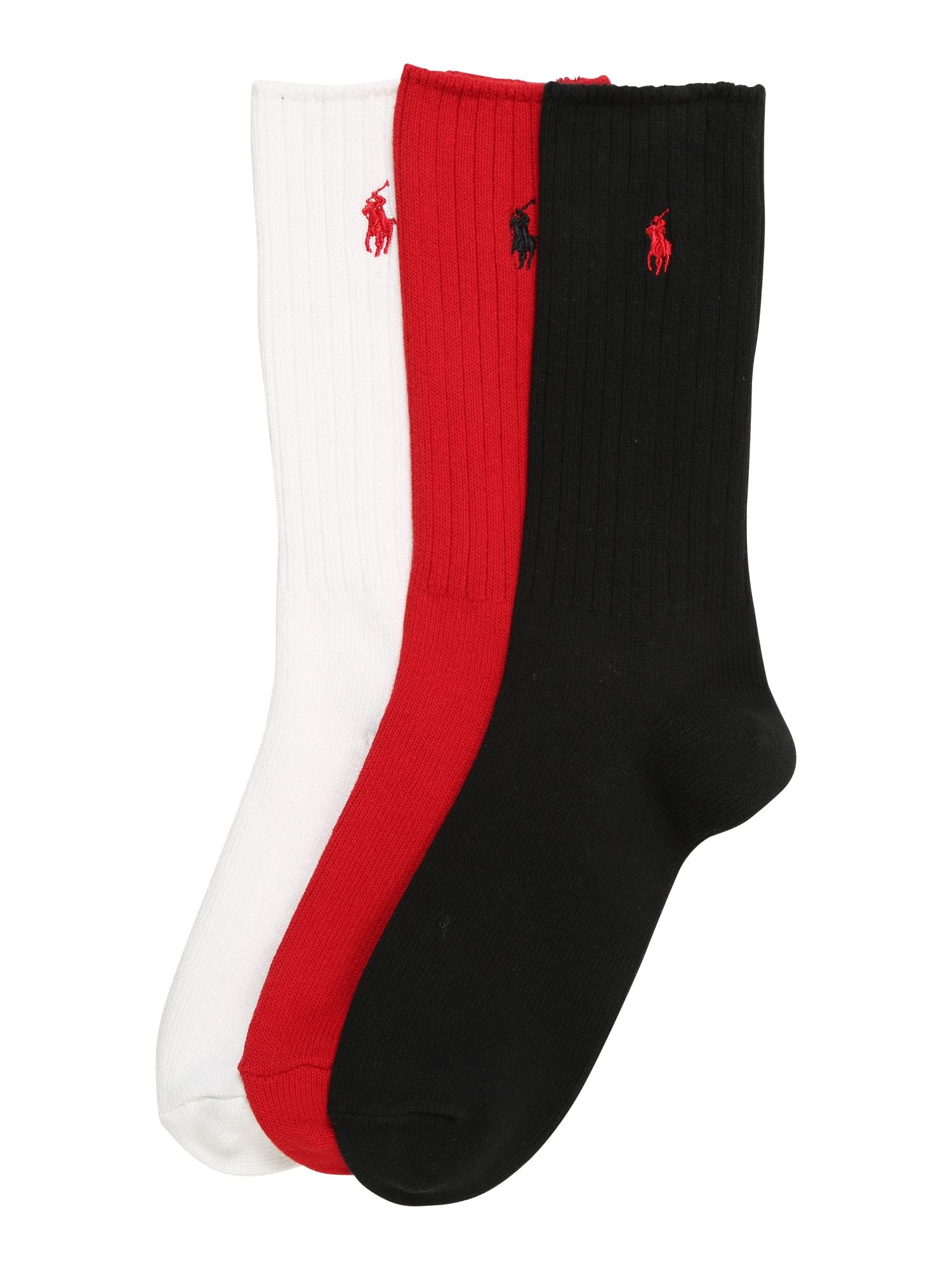 Ponožky červená černá bílá POLO RALPH LAUREN