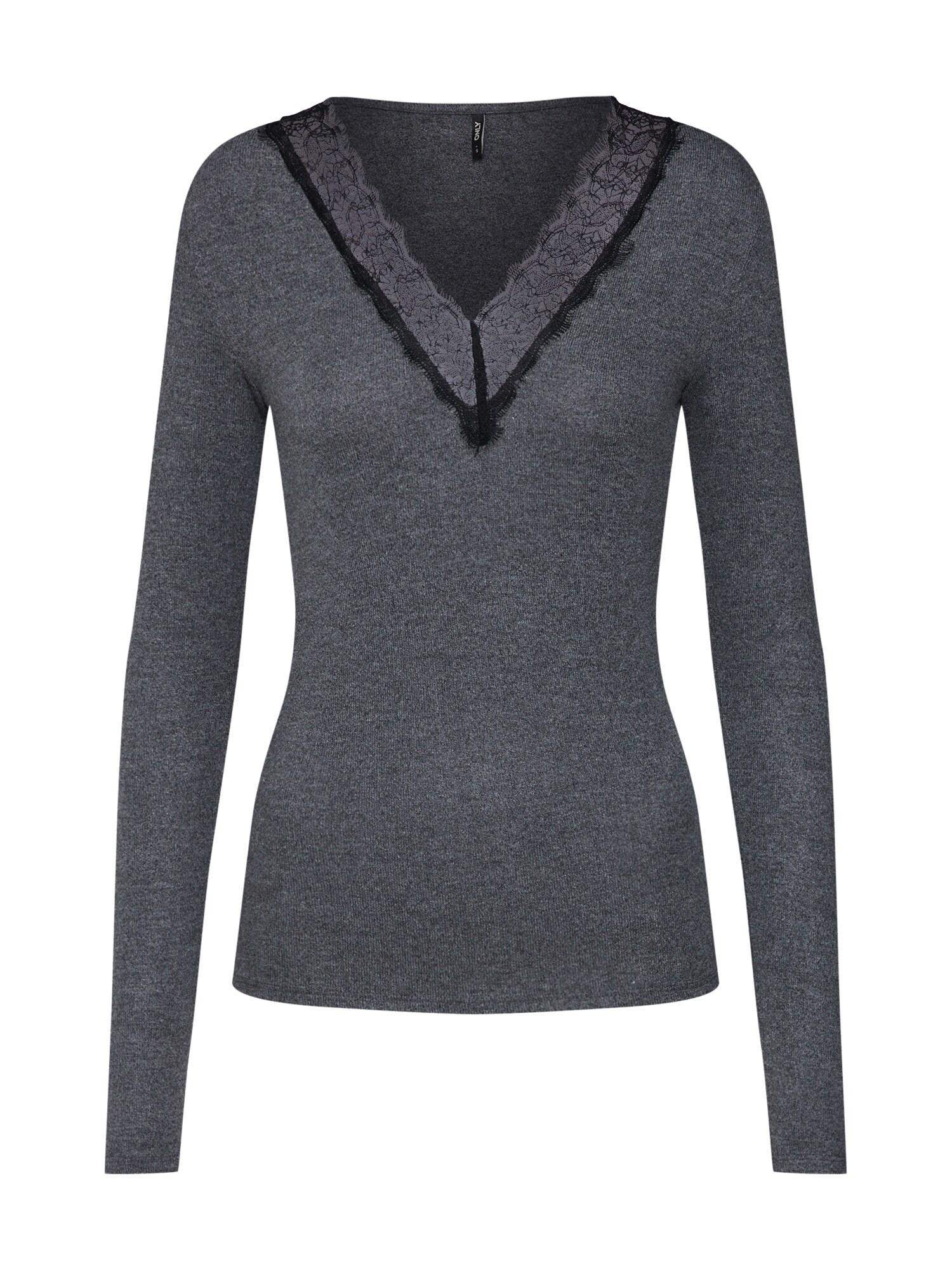 Tričko PINAR tmavě šedá černá ONLY