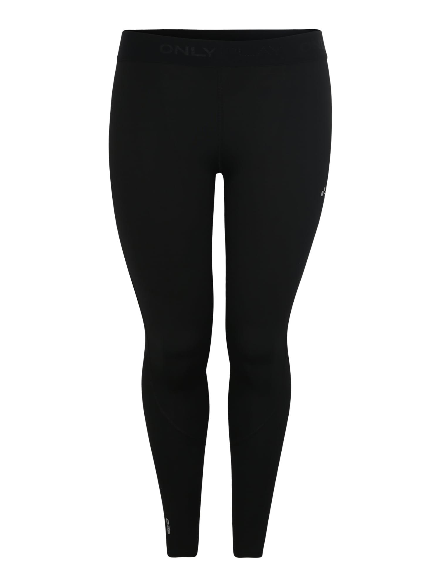 Sportovní kalhoty onpGILL TRAINING TIGHTS - CURVY černá Only Play Curvy