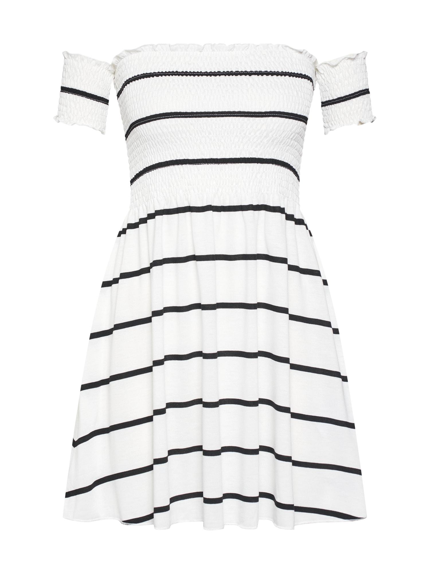 Letní šaty tmavě modrá offwhite Review