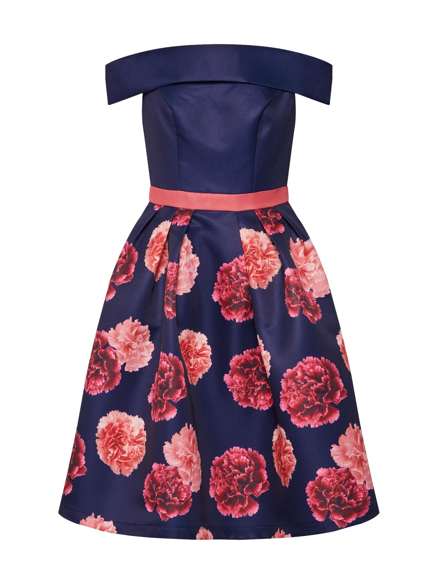 Šaty DILINA  tmavě modrá pink Chi Chi London