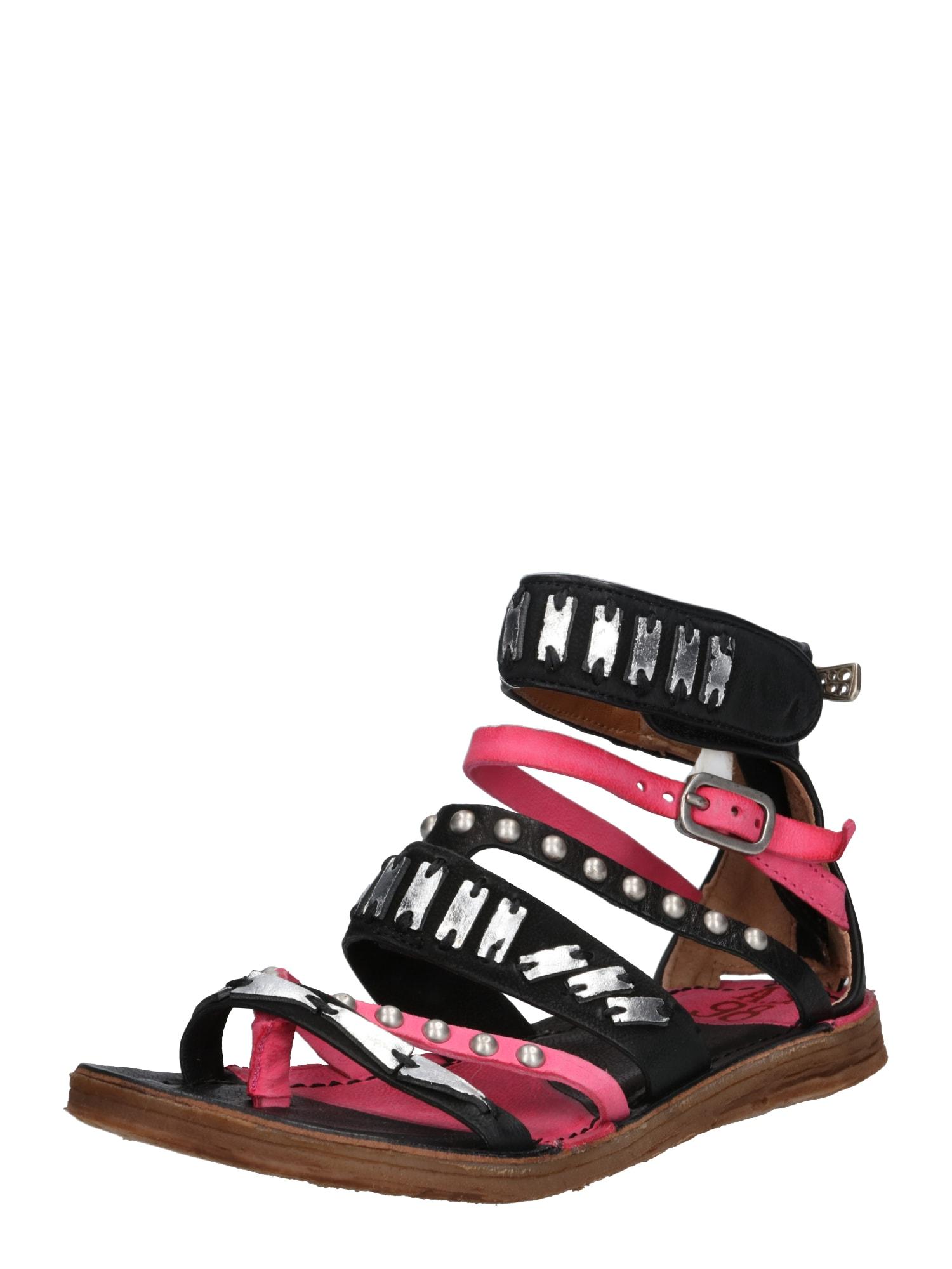Páskové sandály Ramos pink černá A.S.98