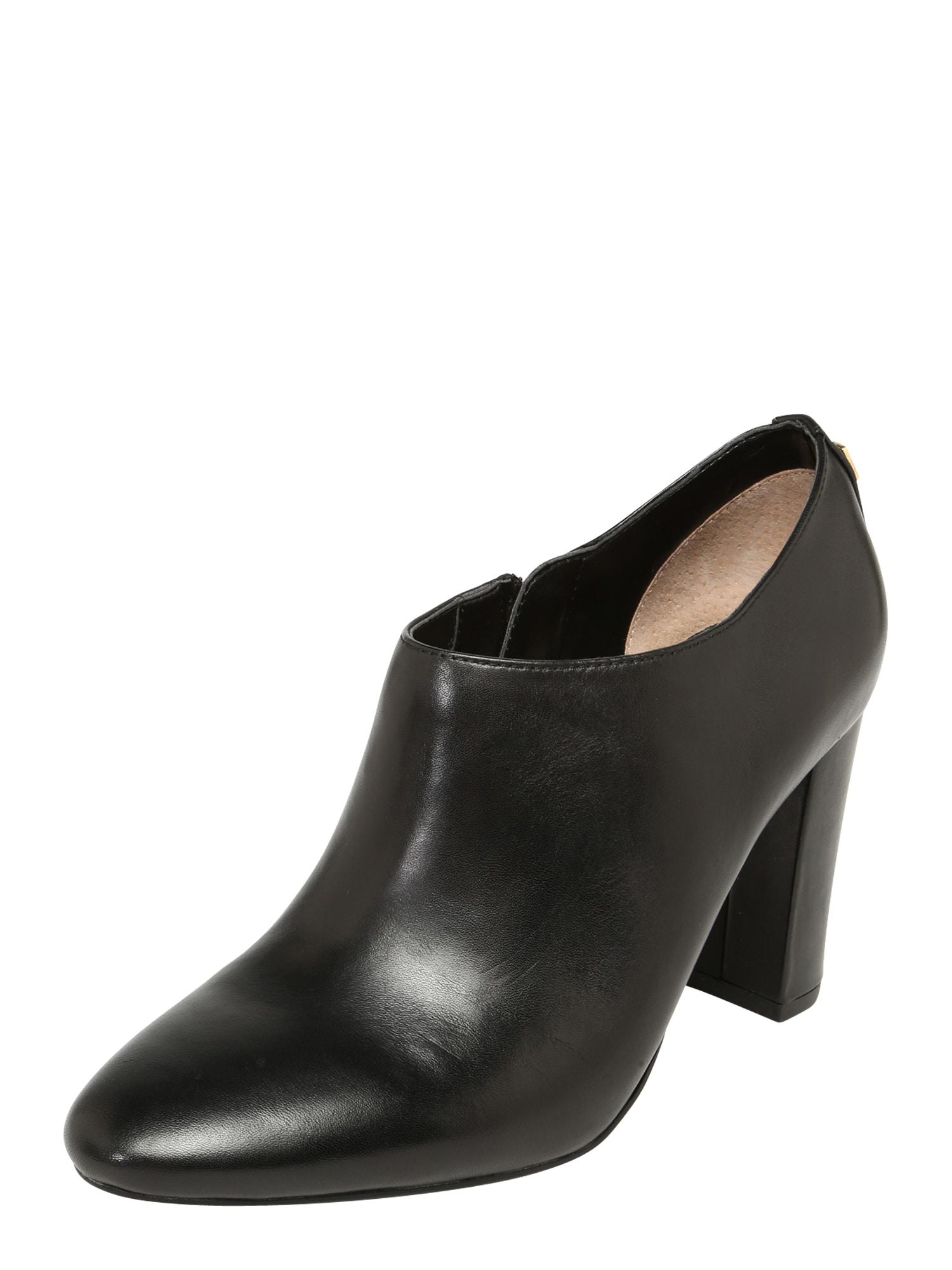 Kotníkové boty AUBREE-BOOTS-DRESS černá Lauren Ralph Lauren
