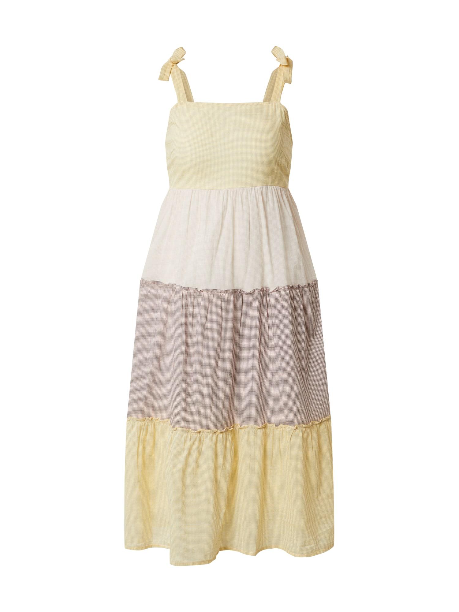 VERO MODA Letní šaty 'HADDY'  růžová / žlutá / bílá