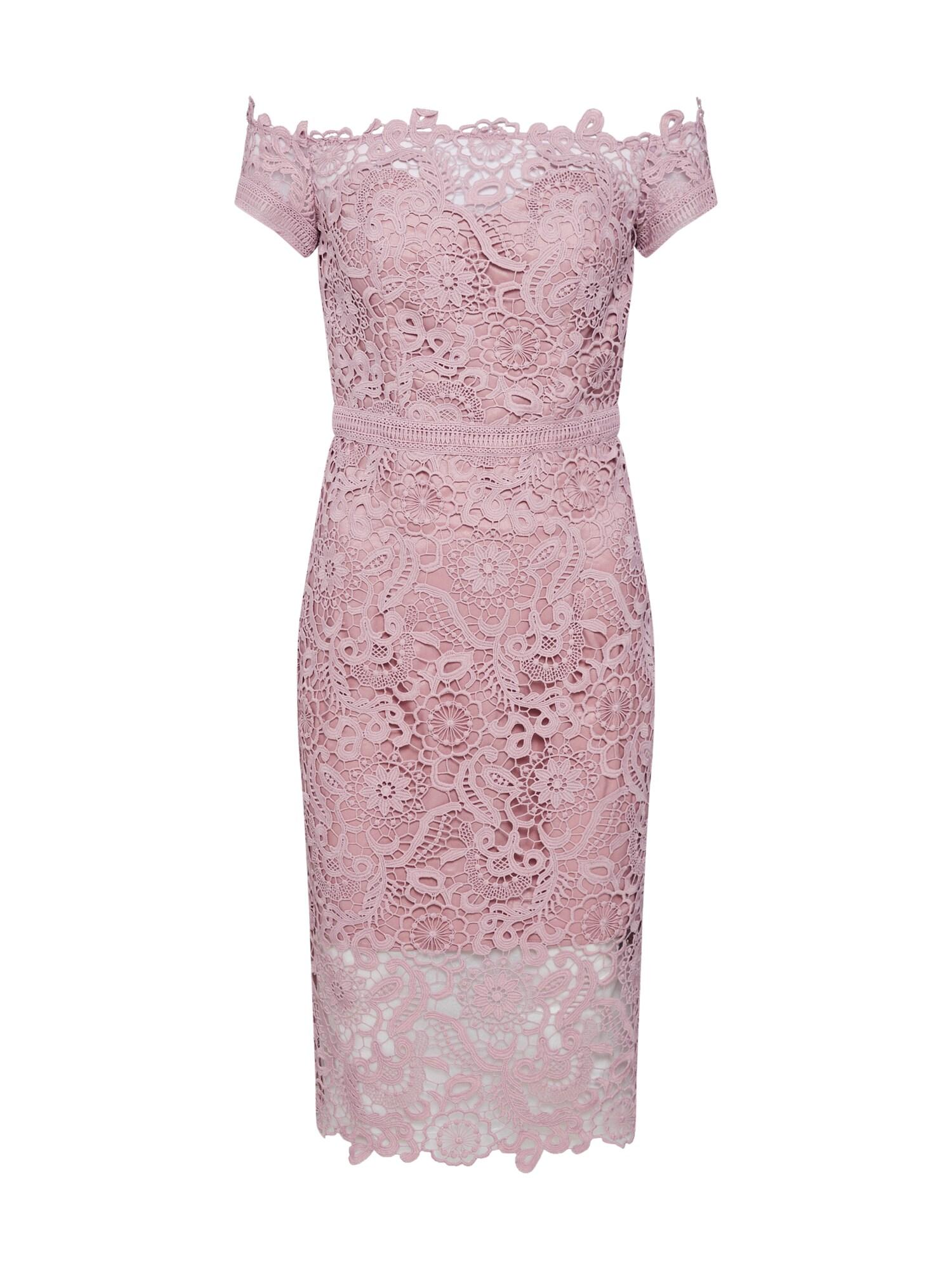 Šaty CHI CHI ALMA bledě fialová Chi Chi London