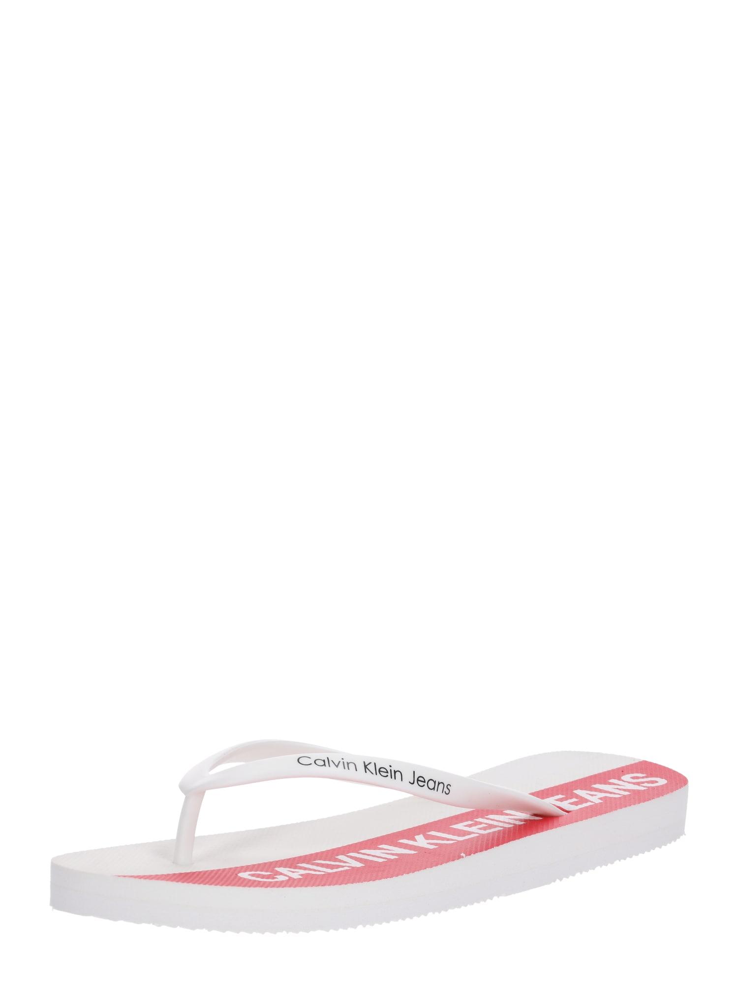 Žabky DORI červená bílá Calvin Klein Jeans