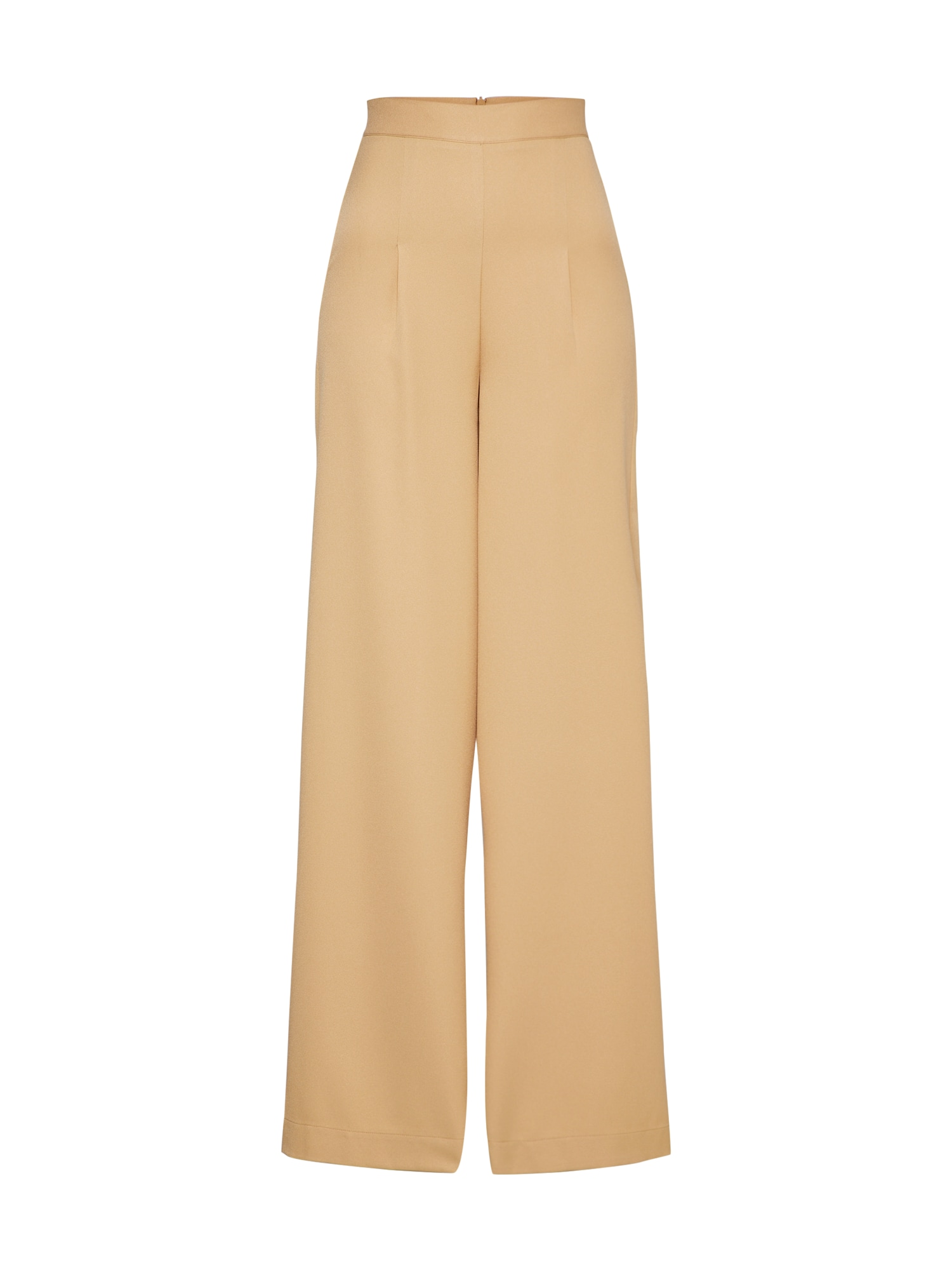 Kalhoty se sklady v pase Scarlette světle béžová zlatě žlutá EDITED