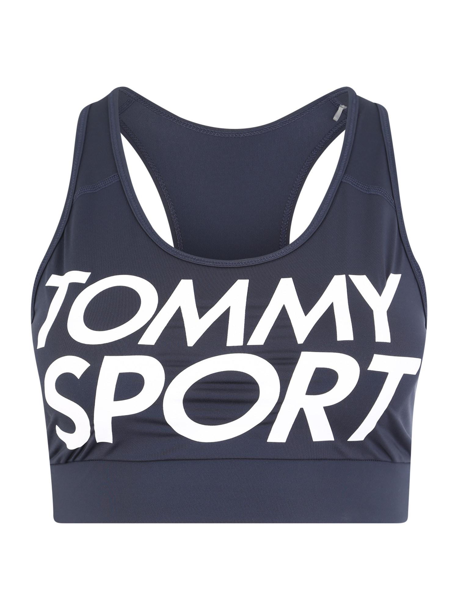 Sportovní podprsenka SPORTS BRA LOGO MID marine modrá Tommy Sport