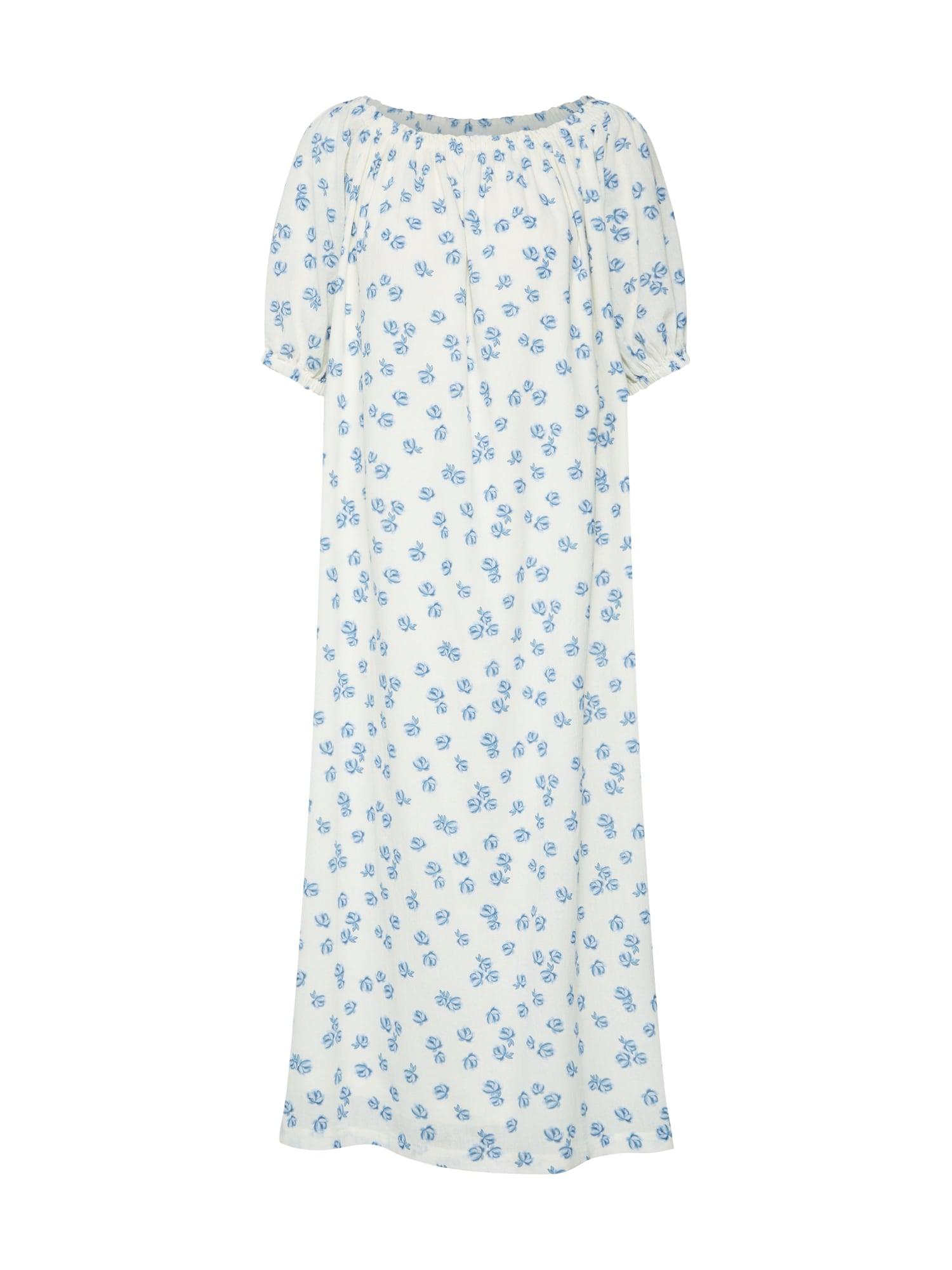 Šaty Rahima modrá bílá EDITED
