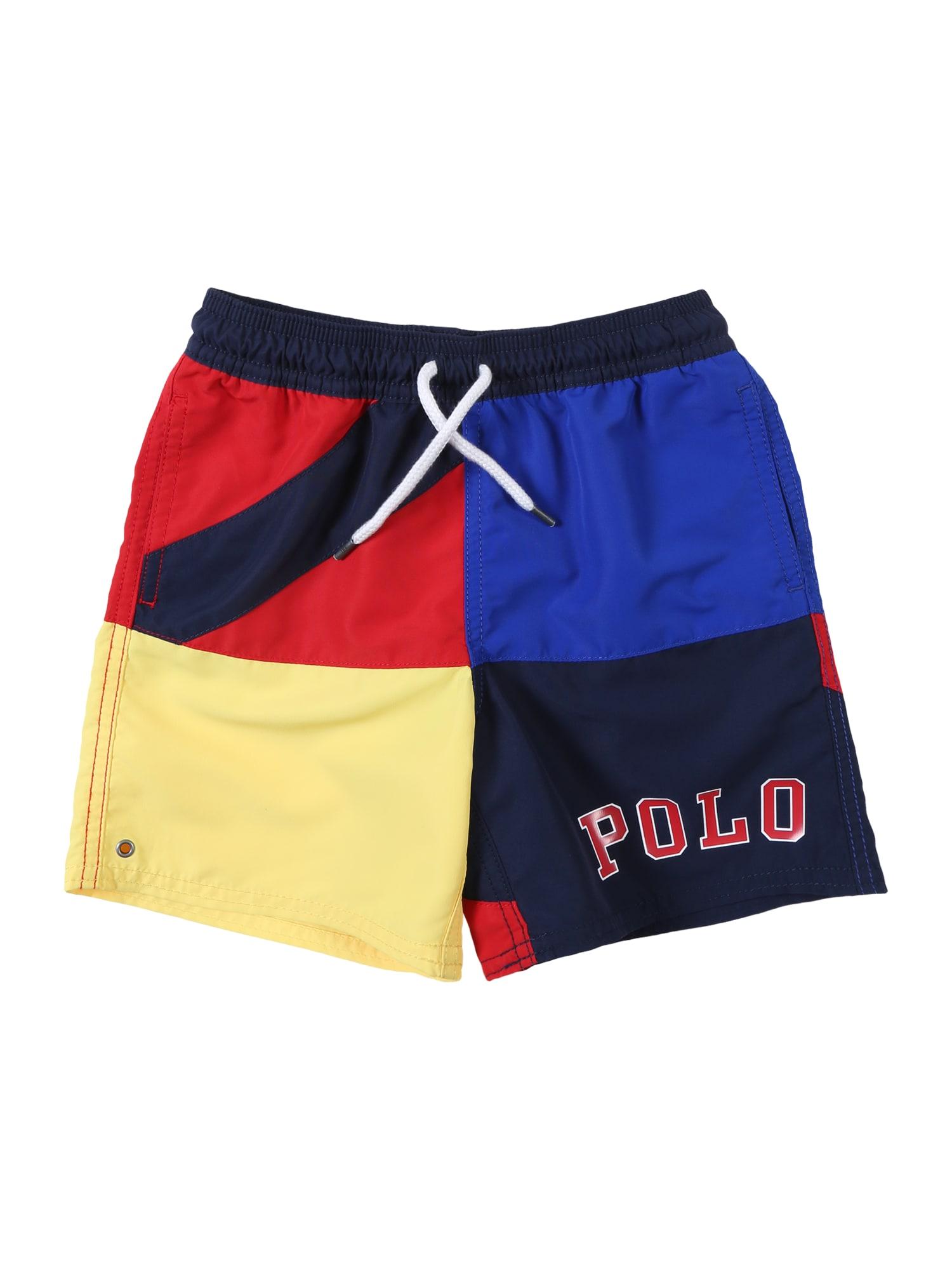 Plavecké šortky NYLON-CAPTIVA-SW-BXR mix barev POLO RALPH LAUREN