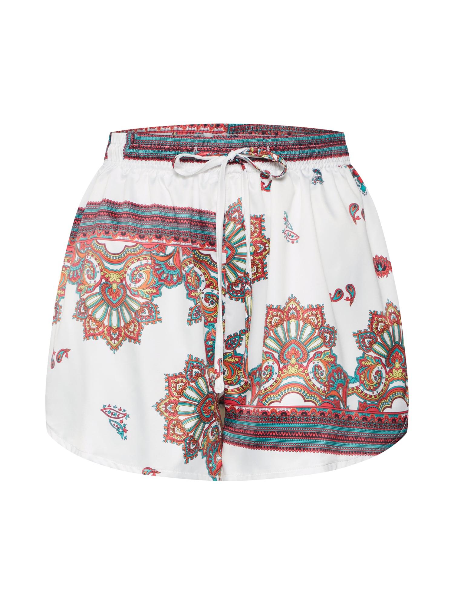 Kalhoty Scarf Print Elasticated Shorts hnědá bílá Missguided