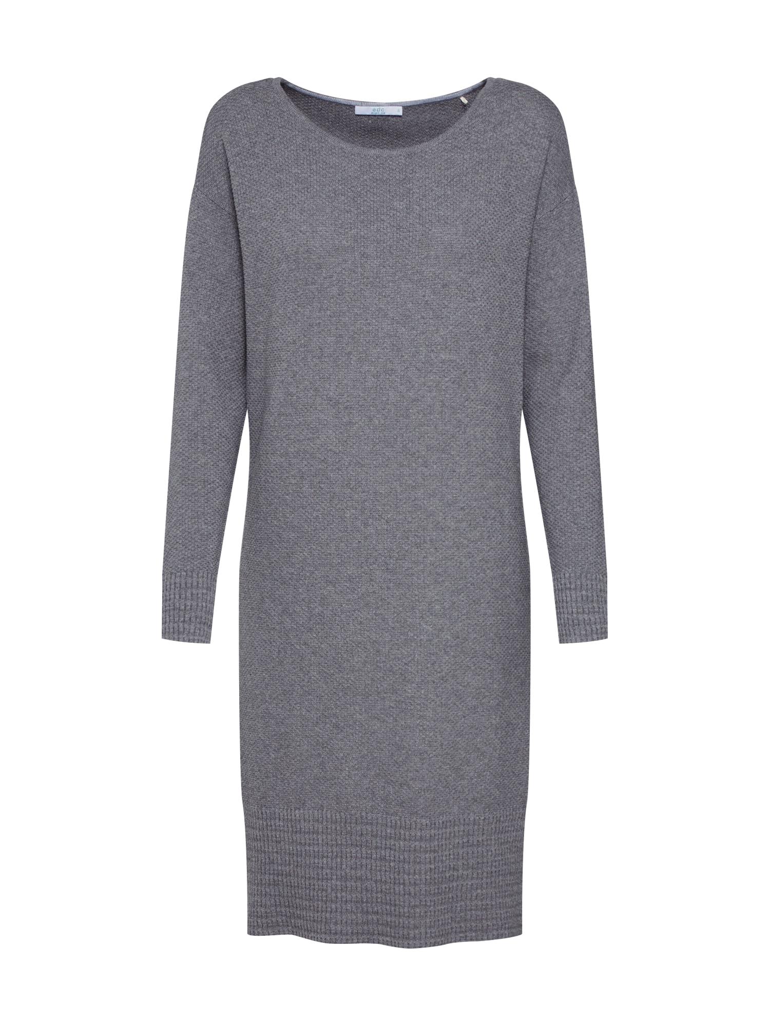 Úpletové šaty OCS Dress stříbrně šedá světle šedá EDC BY ESPRIT