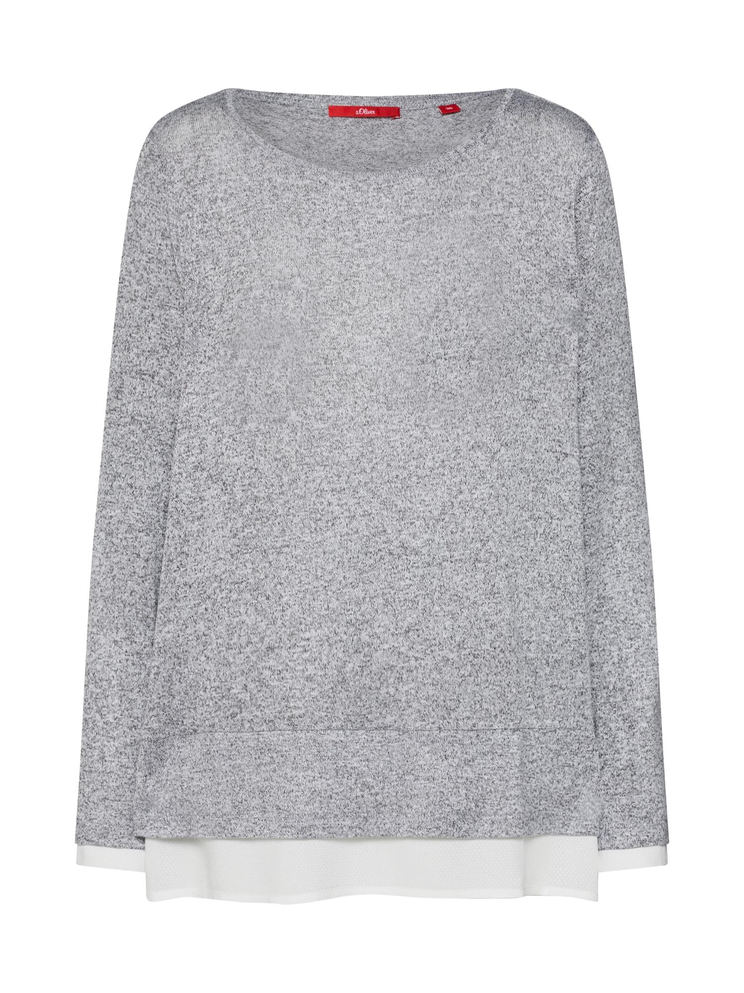 Tričko šedý melír bílá S.Oliver RED LABEL