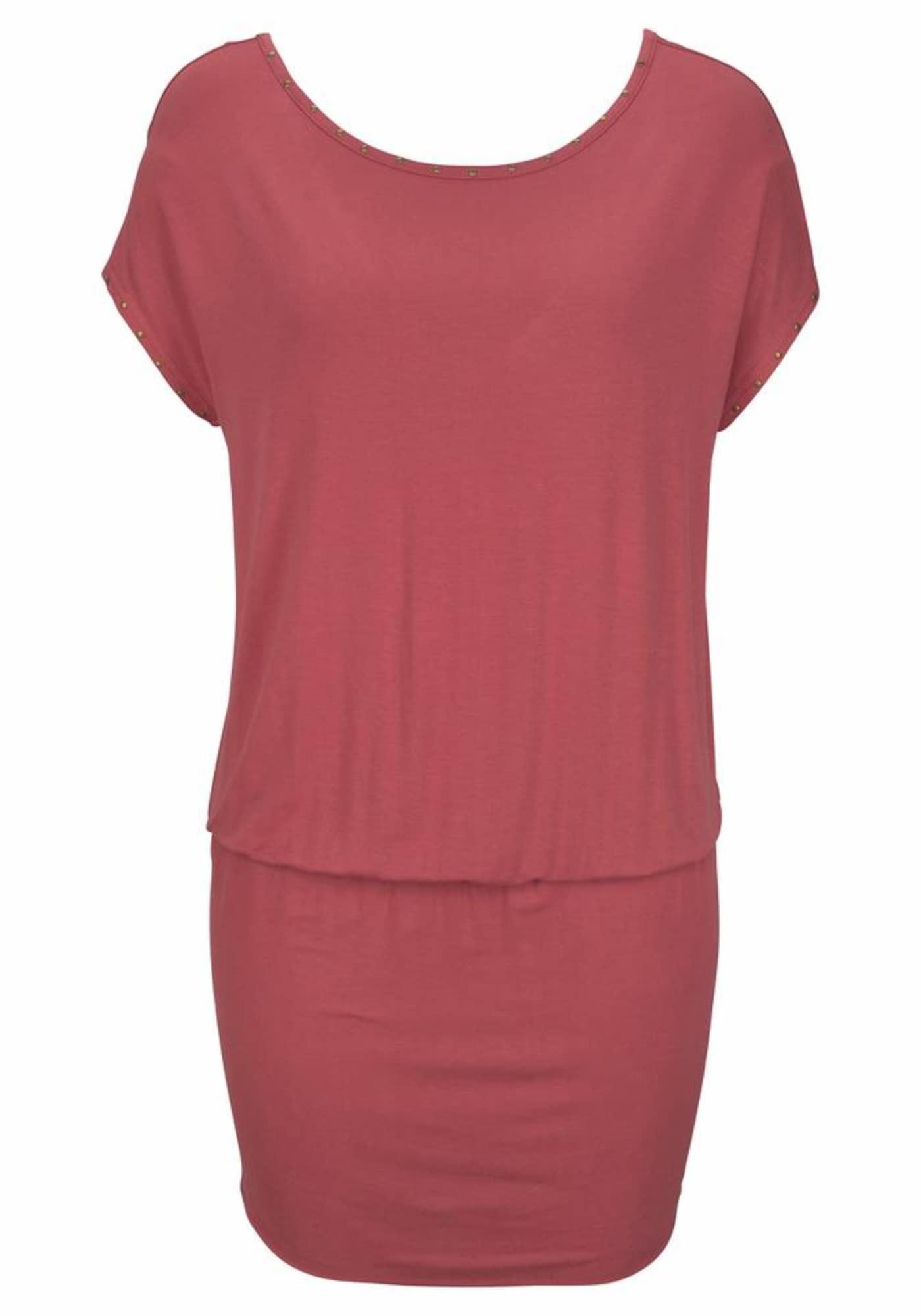 Letní šaty rezavě červená LASCANA