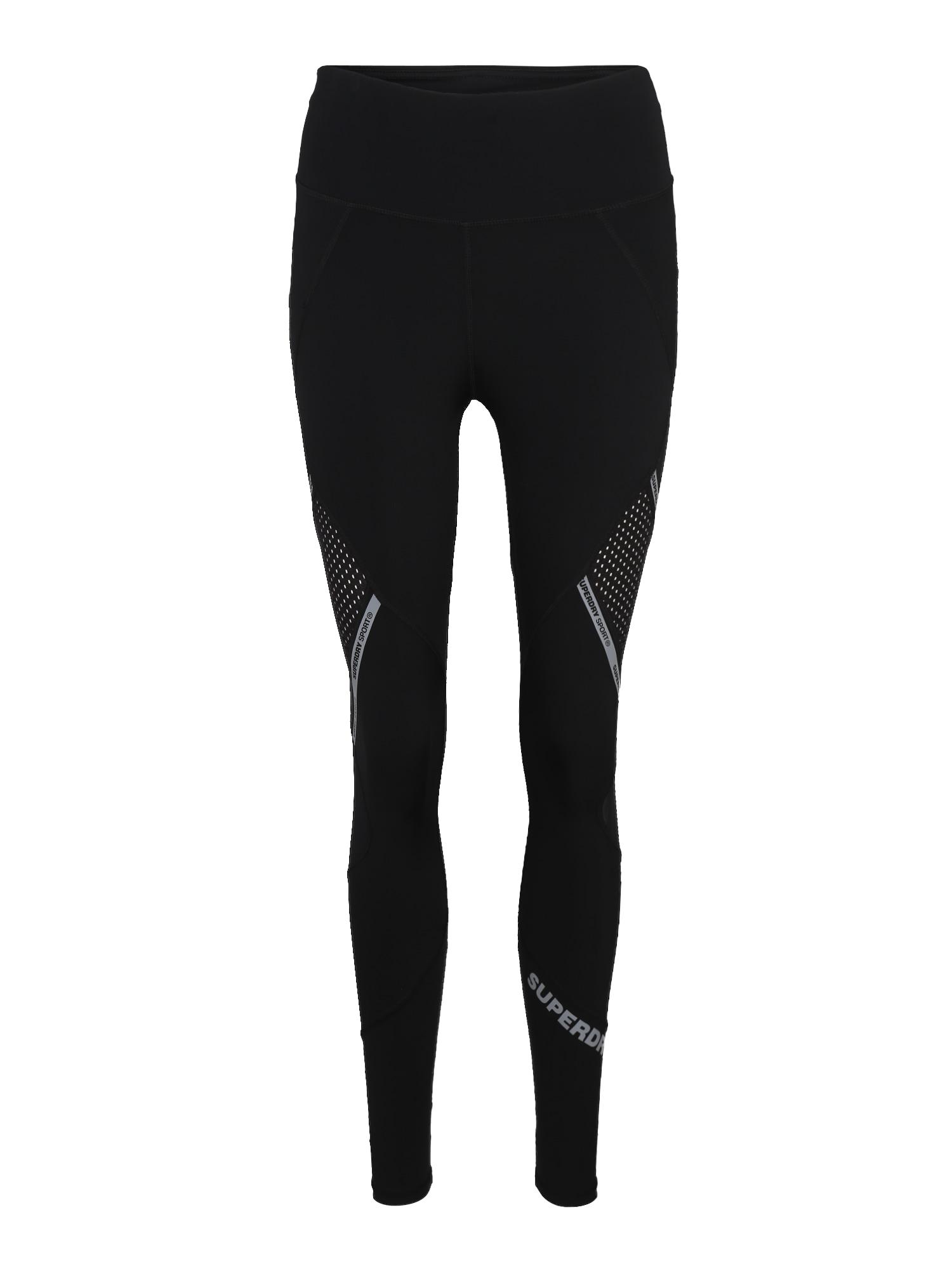 Sportovní kalhoty ACTIVE MESH PANEL šedá černá Superdry