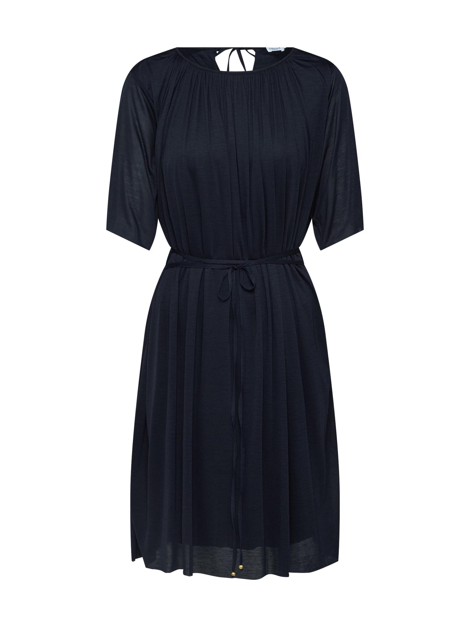 Šaty Gathered Tie námořnická modř Filippa K