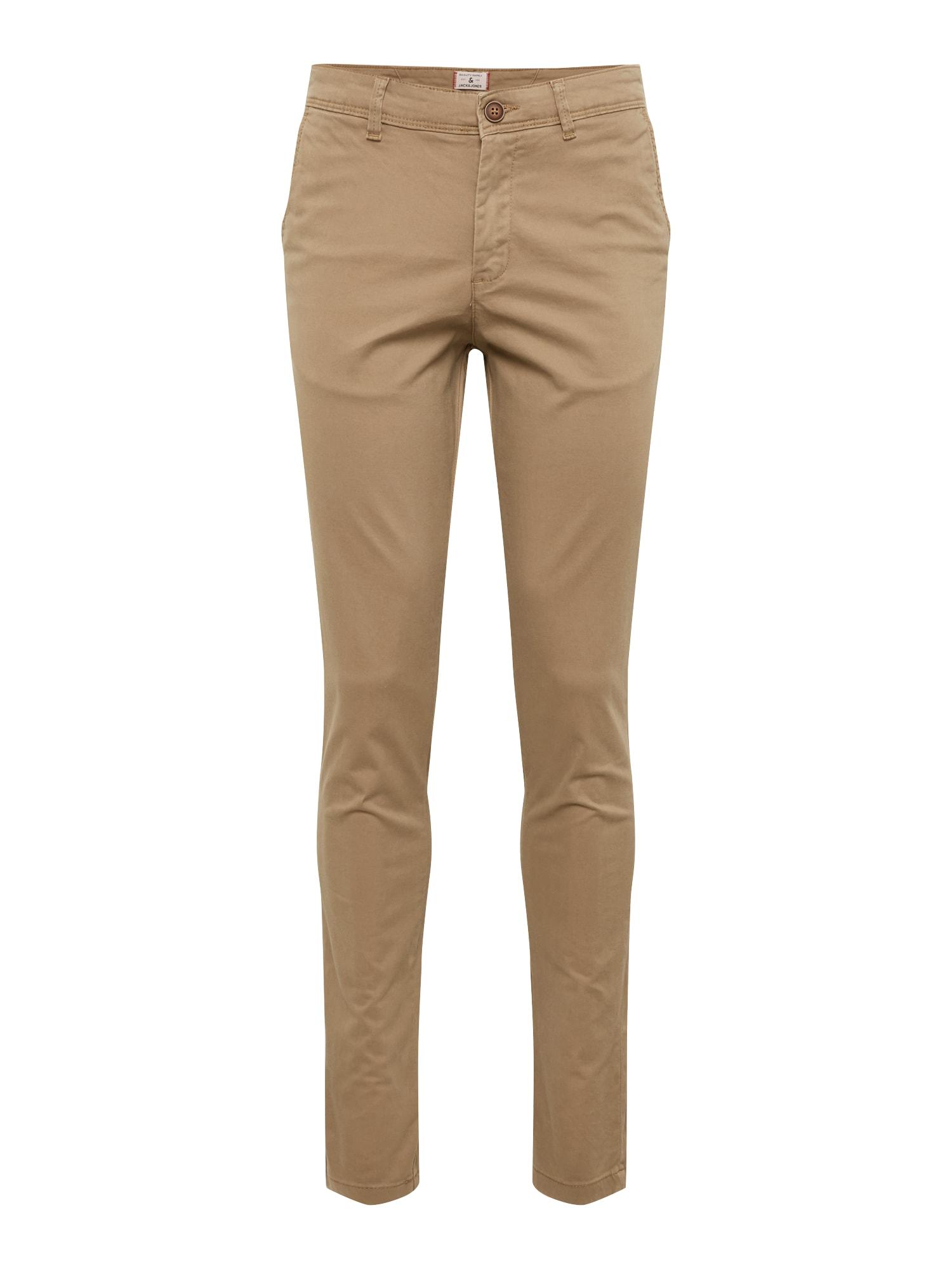 Chino kalhoty NOOS - MARCO BOWIE SA BEIGE NOOS světle béžová JACK & JONES