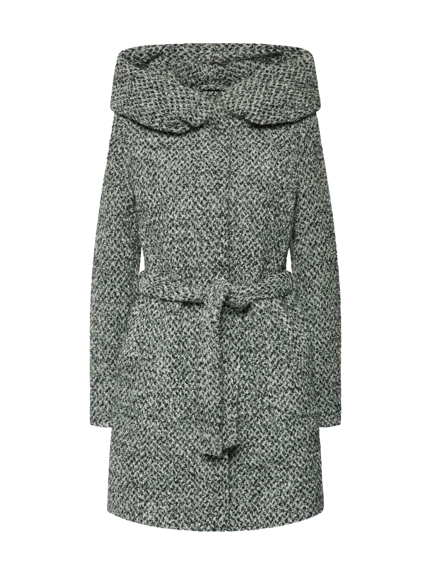 Přechodný kabát světle šedá černá VILA