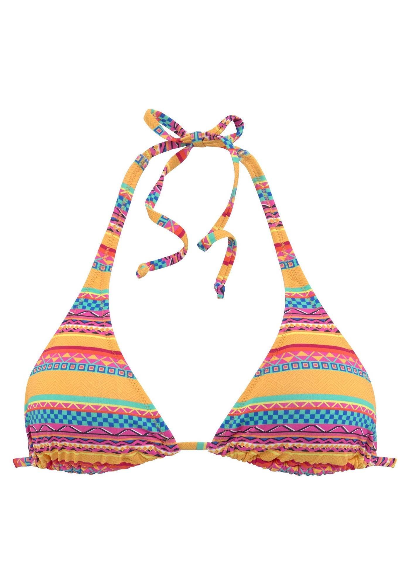 BUFFALO Horní díl plavek 'Lux'  modrá / žlutá / oranžová / pink