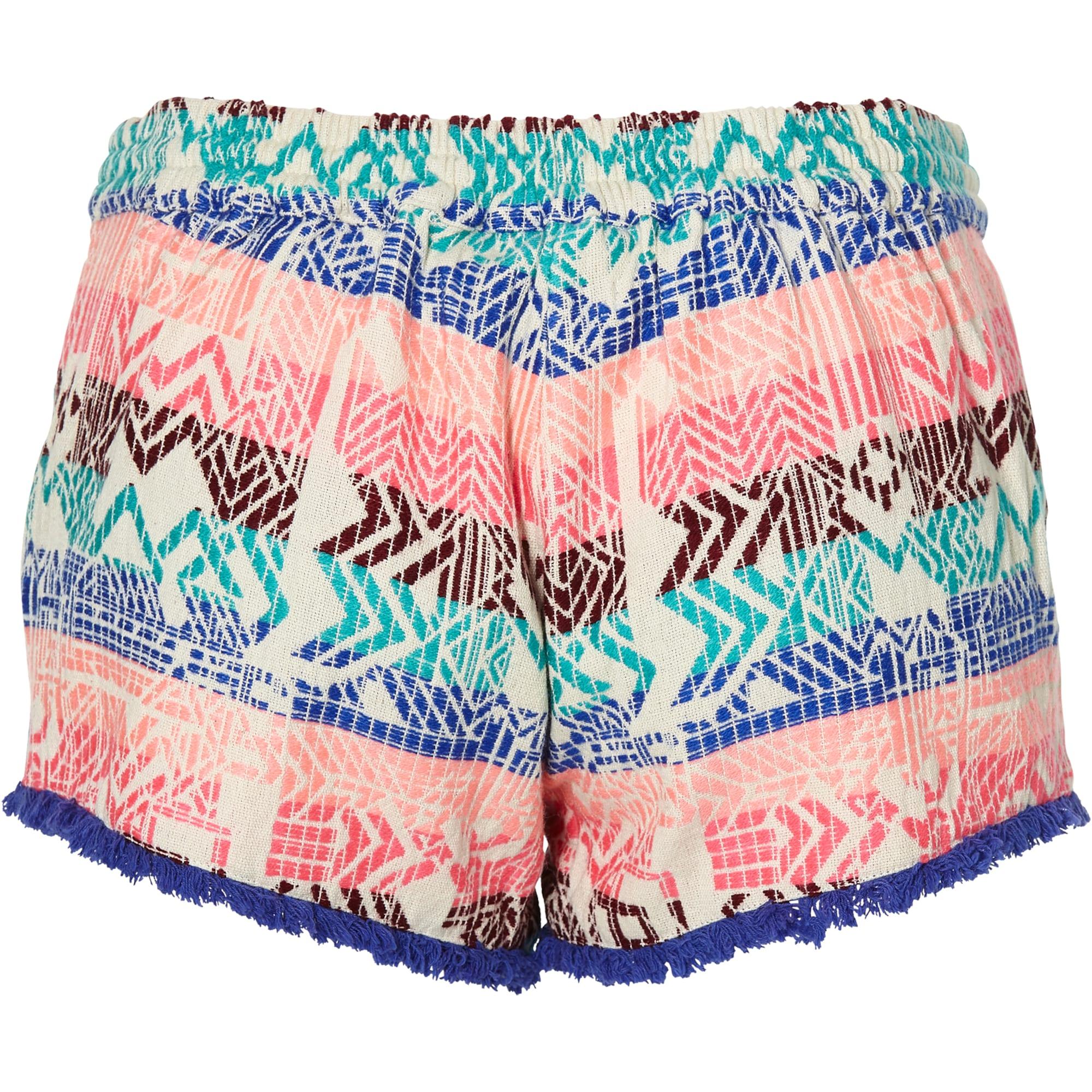 O'NEILL Spodnie 'LW JACQUARD TASSLE TIE SHORTS'  mieszane kolory / różowy