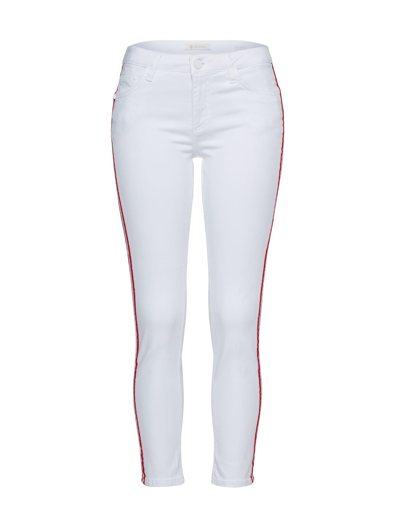 Džíny Midi - Stripe White - Jean červená bílá Rich & Royal