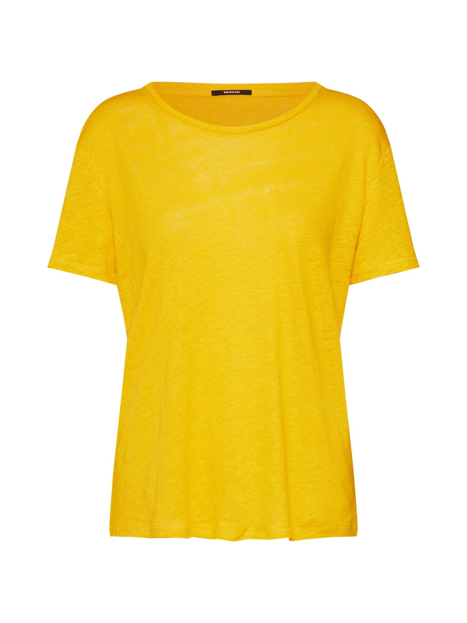 Tričko NAVAL TEE LJ žlutá DENHAM
