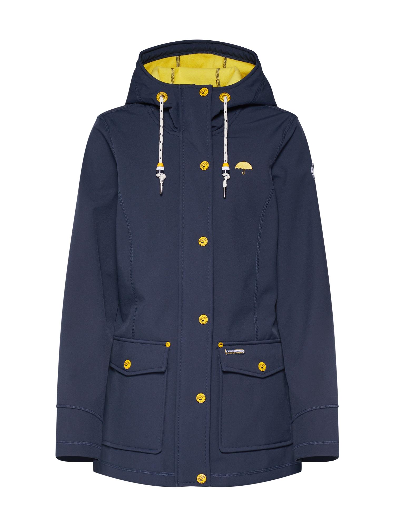 Přechodná bunda Softshell   marine modrá žlutá Schmuddelwedda