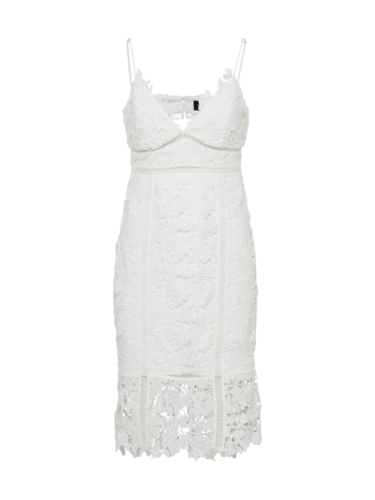 Koktejlové šaty Botanica bílá Bardot
