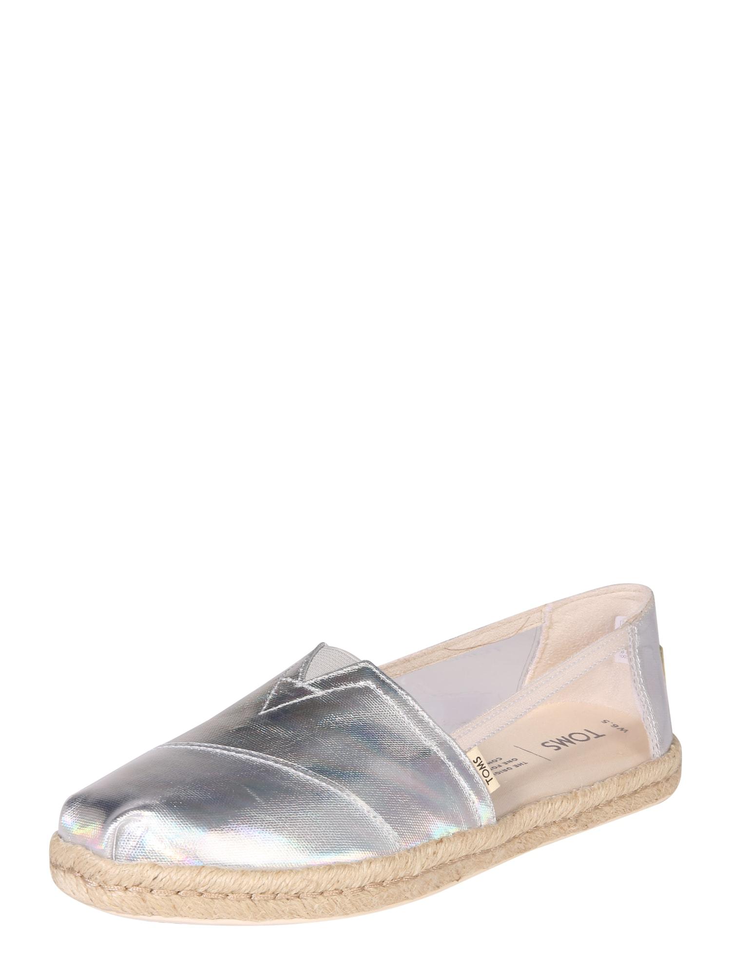 Espadrilky Alpargata Core stříbrná TOMS