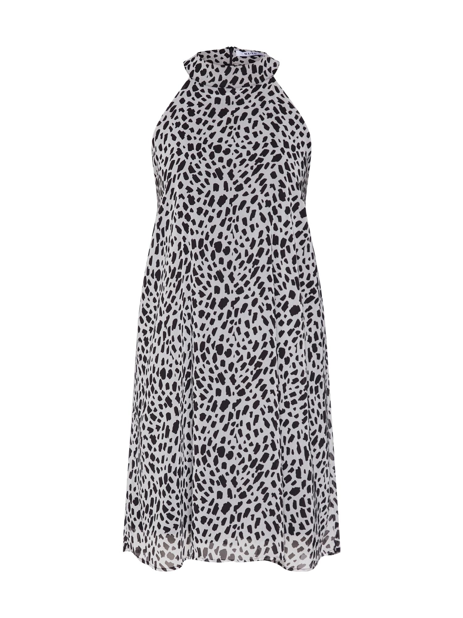 Šaty antracitová černá bílá NA-KD