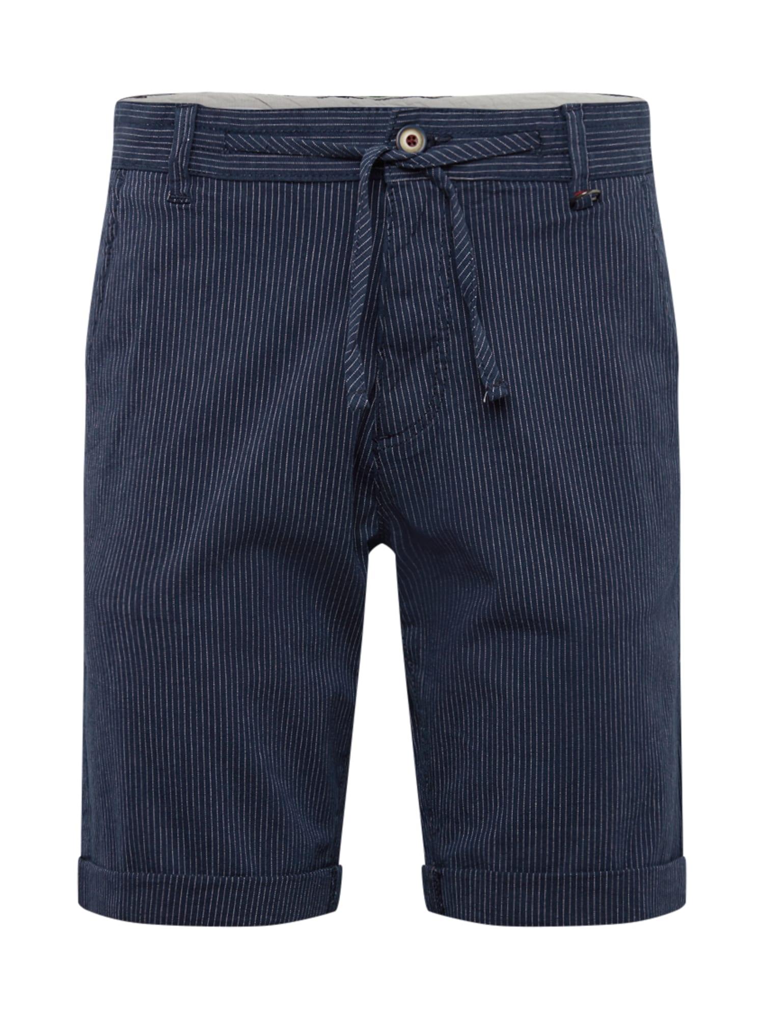 Chino kalhoty námořnická modř bílá JACK & JONES