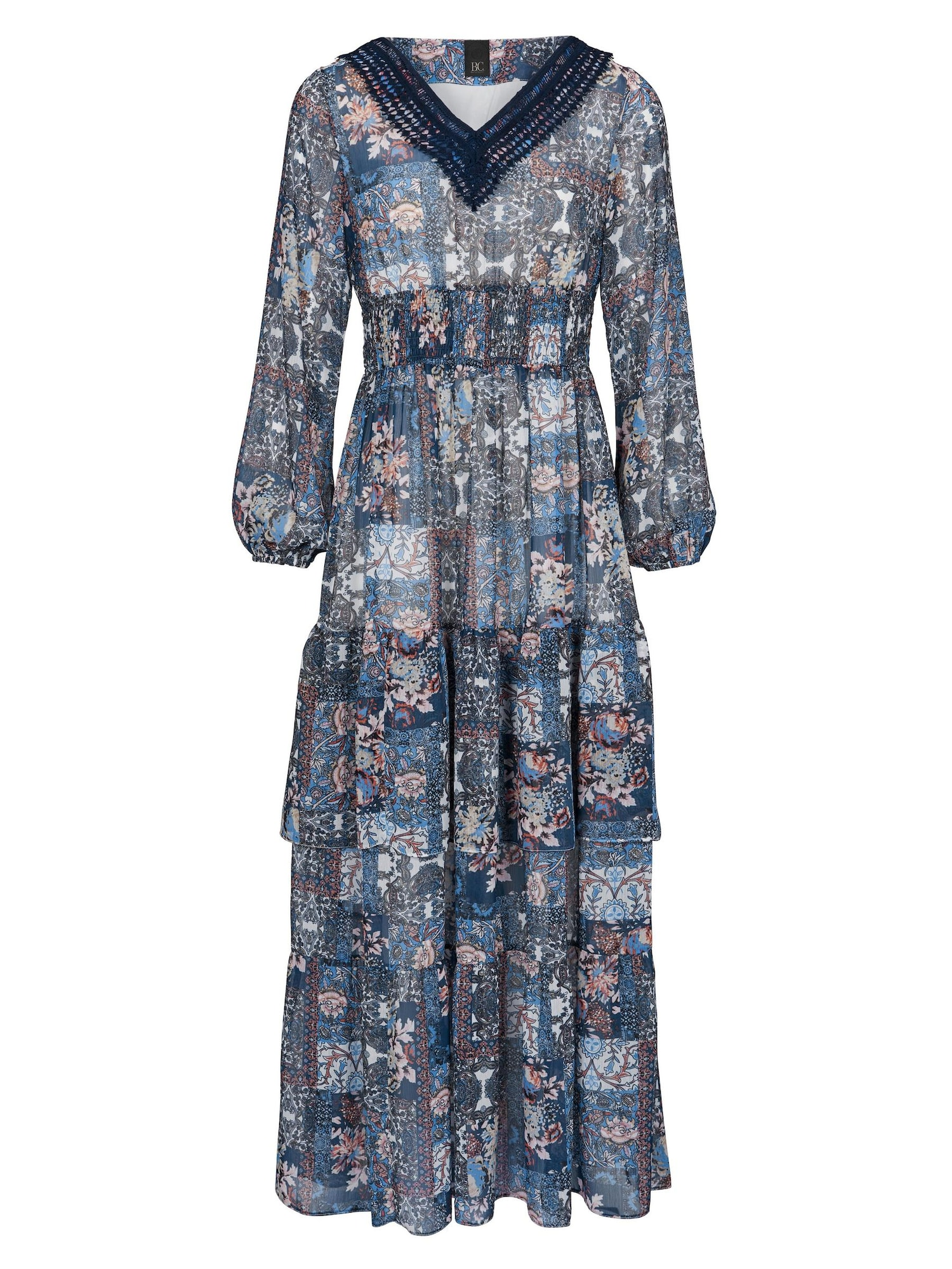 Šaty modrá mix barev Heine