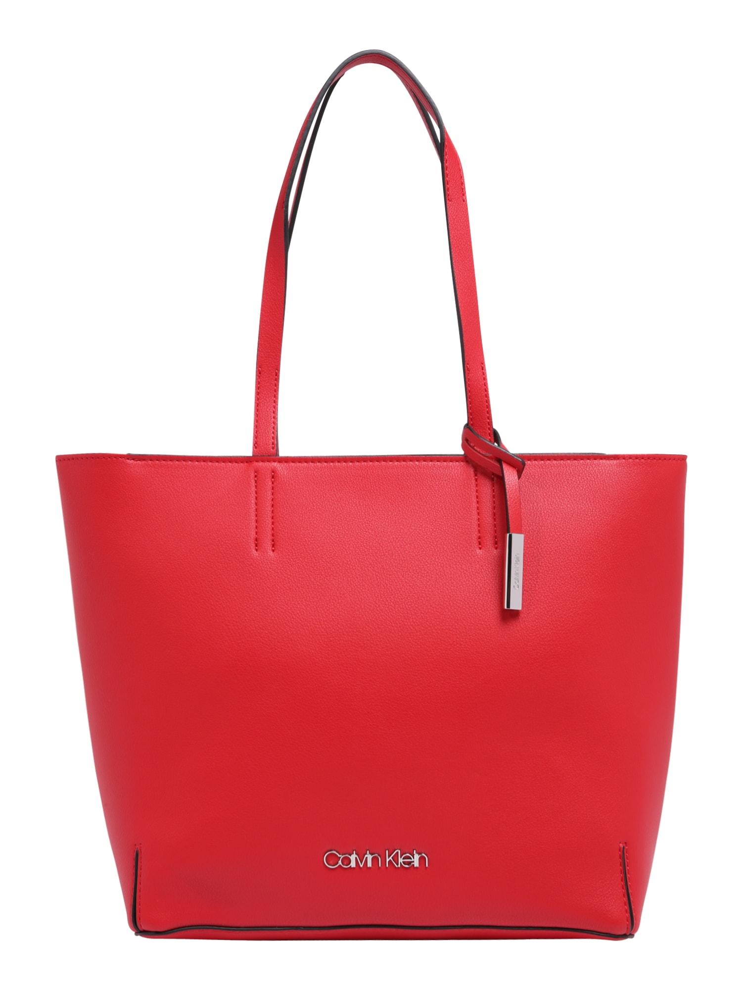 Nákupní taška STITCH EW červená Calvin Klein