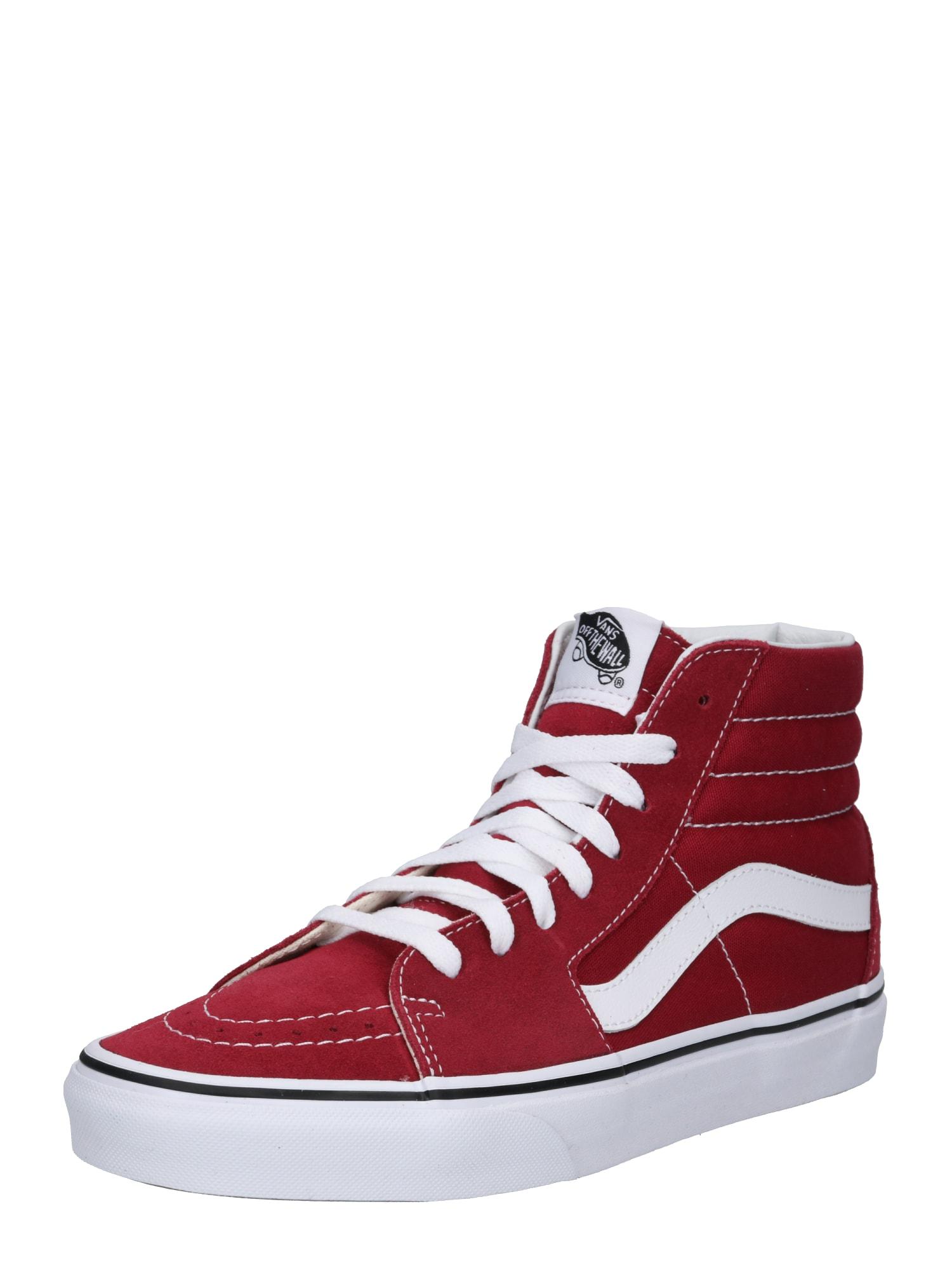 Kotníkové tenisky UA SK8-Hi červená bílá VANS