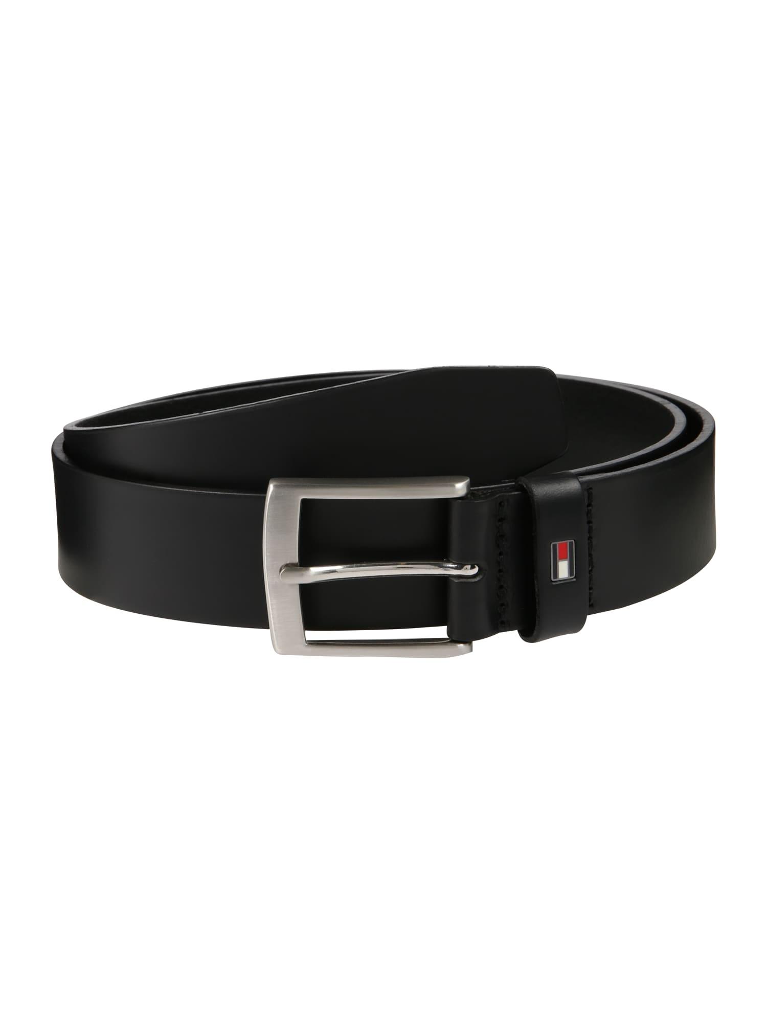 Opasek Adan Leather Belt 3.5 černá TOMMY HILFIGER