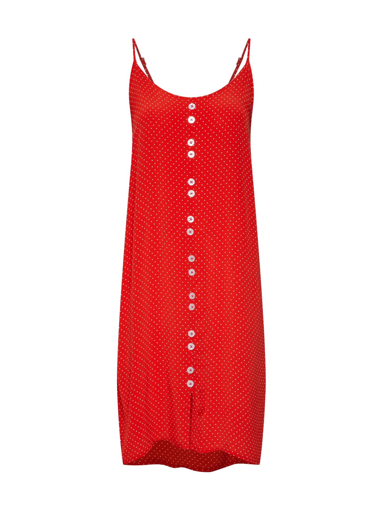 Letní šaty Lemon červená bílá OBJECT