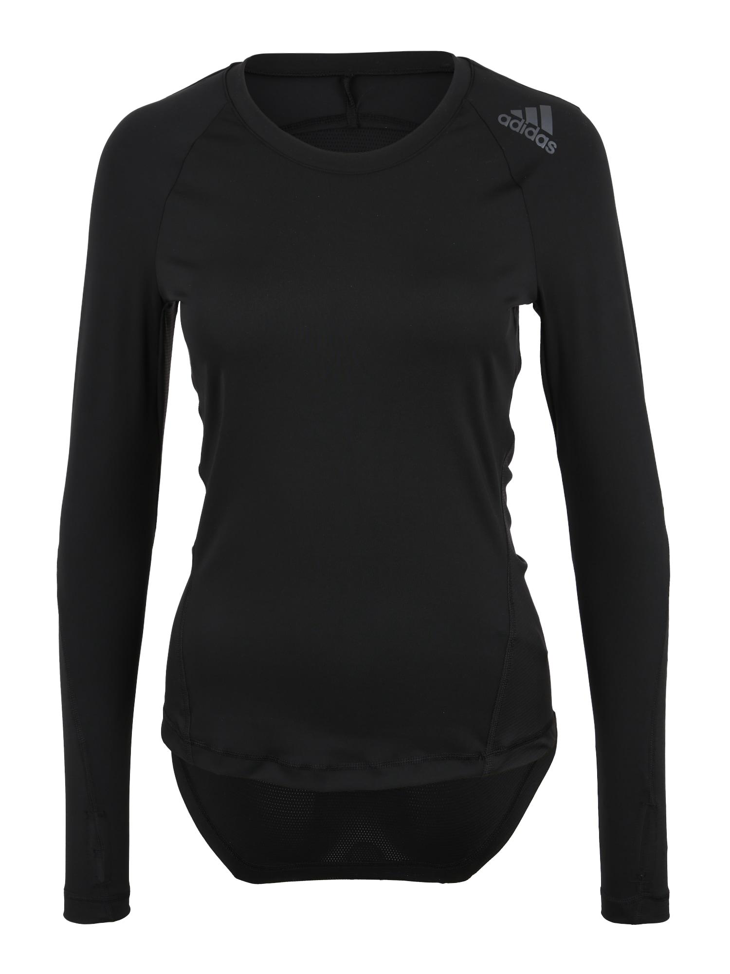 Funkční tričko Alphaskin Sport černá ADIDAS PERFORMANCE