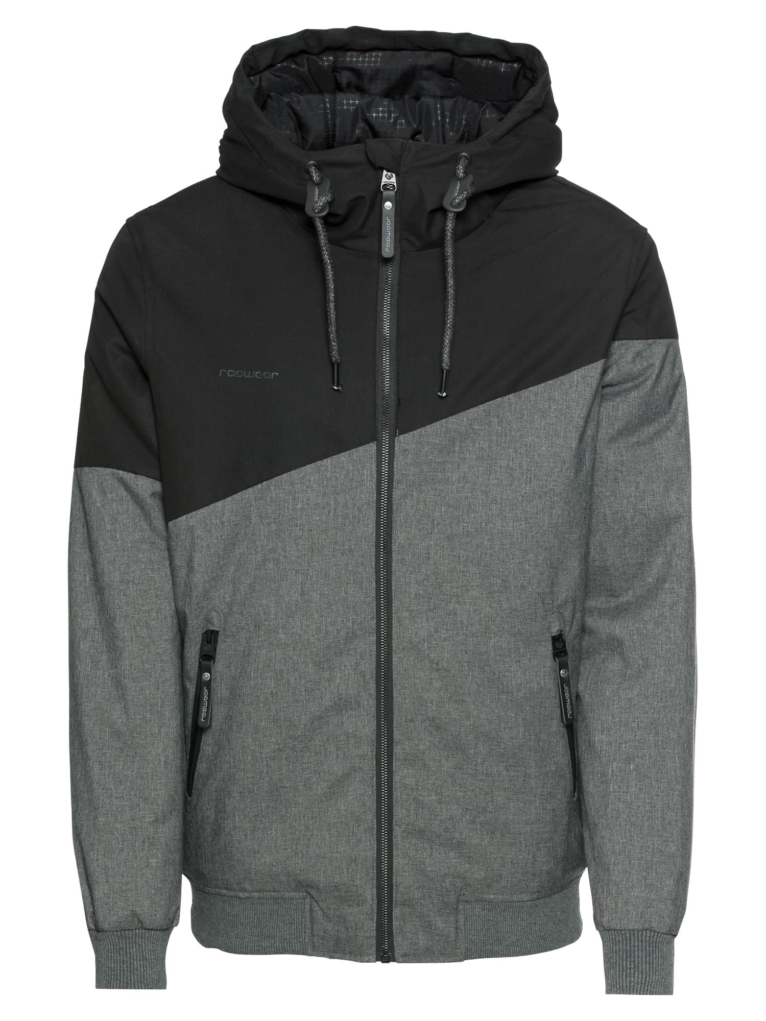 Přechodná bunda WINGS tmavě šedá černá Ragwear
